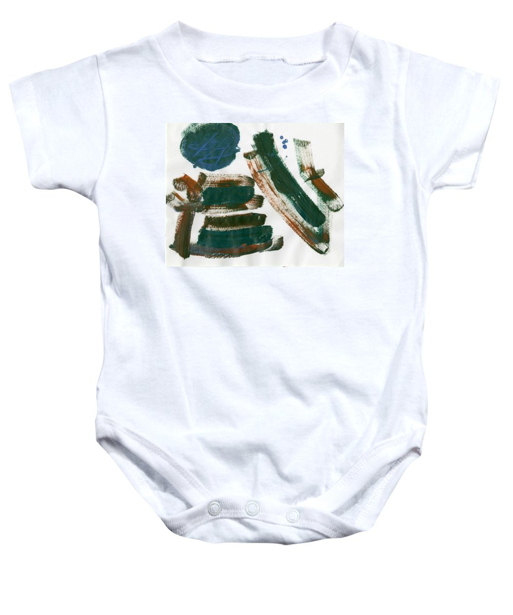My Backyard Baby Onesie featuring the painting My Backyard by Taylor Webb
