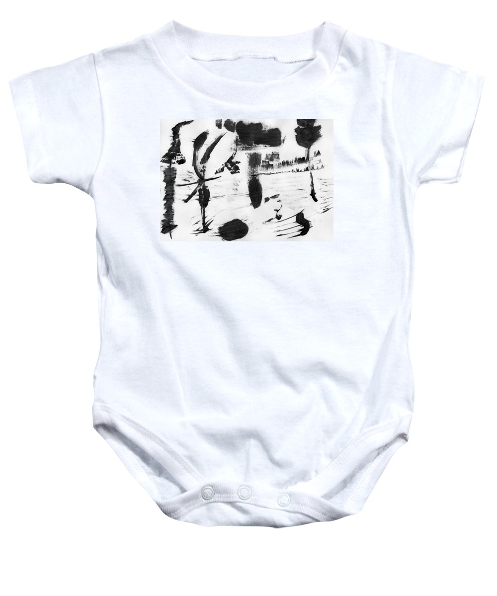 Nature's Slavery Baby Onesie featuring the painting Nature's Slavery by Taylor Webb
