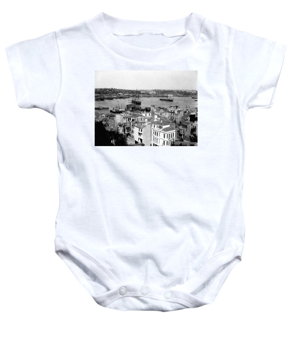 naval Arsenal Baby Onesie featuring the photograph Naval Arsenal And The Golden Horn - Ottoman Empire - Turkey by International Images