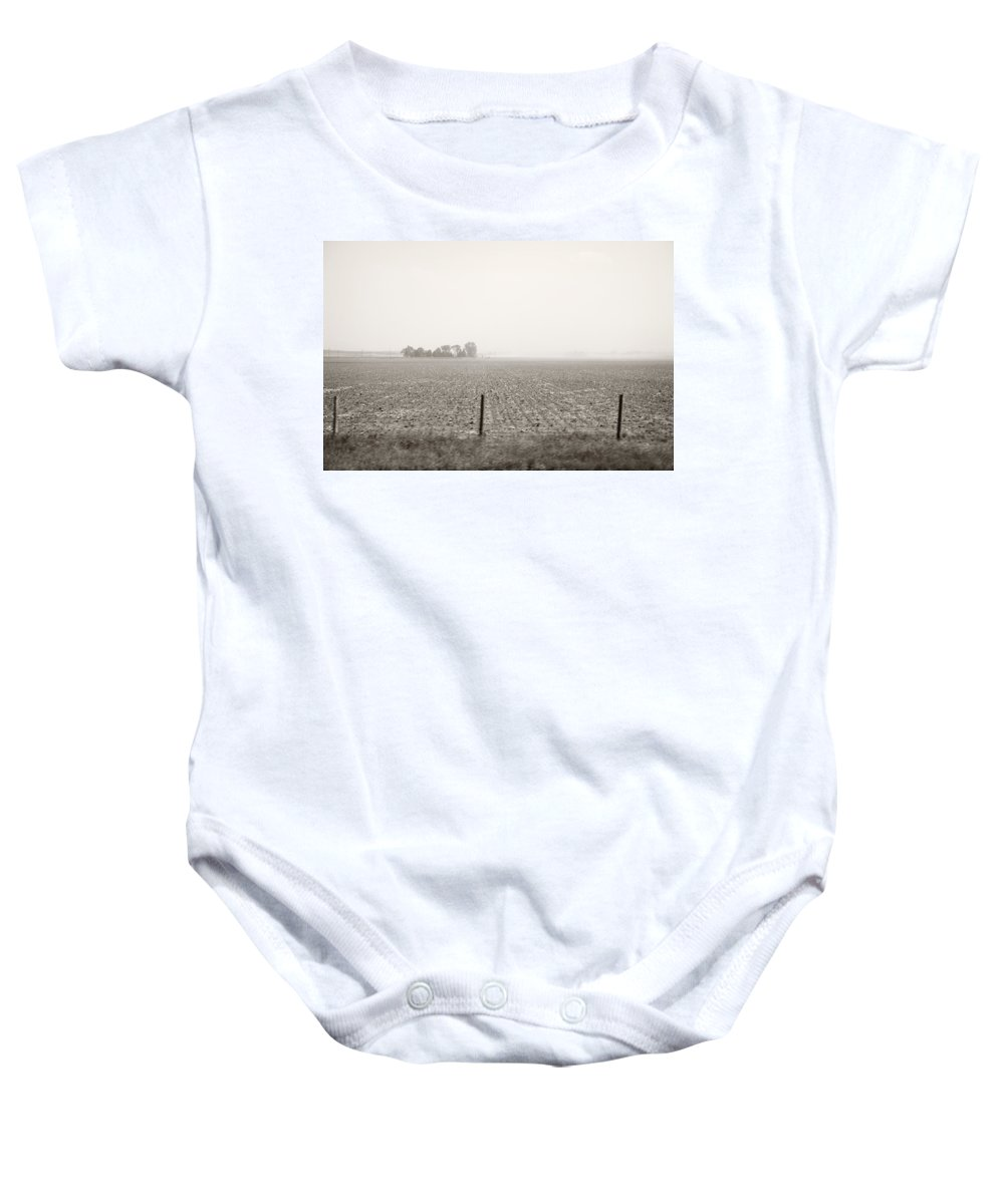 Landscape Baby Onesie featuring the photograph Nebraska Morning by Marilyn Hunt