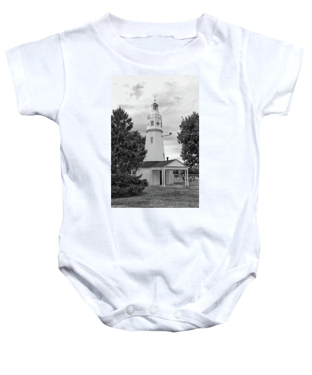 Buildings Baby Onesie featuring the photograph Neenah Lighthouse 8390 by Guy Whiteley