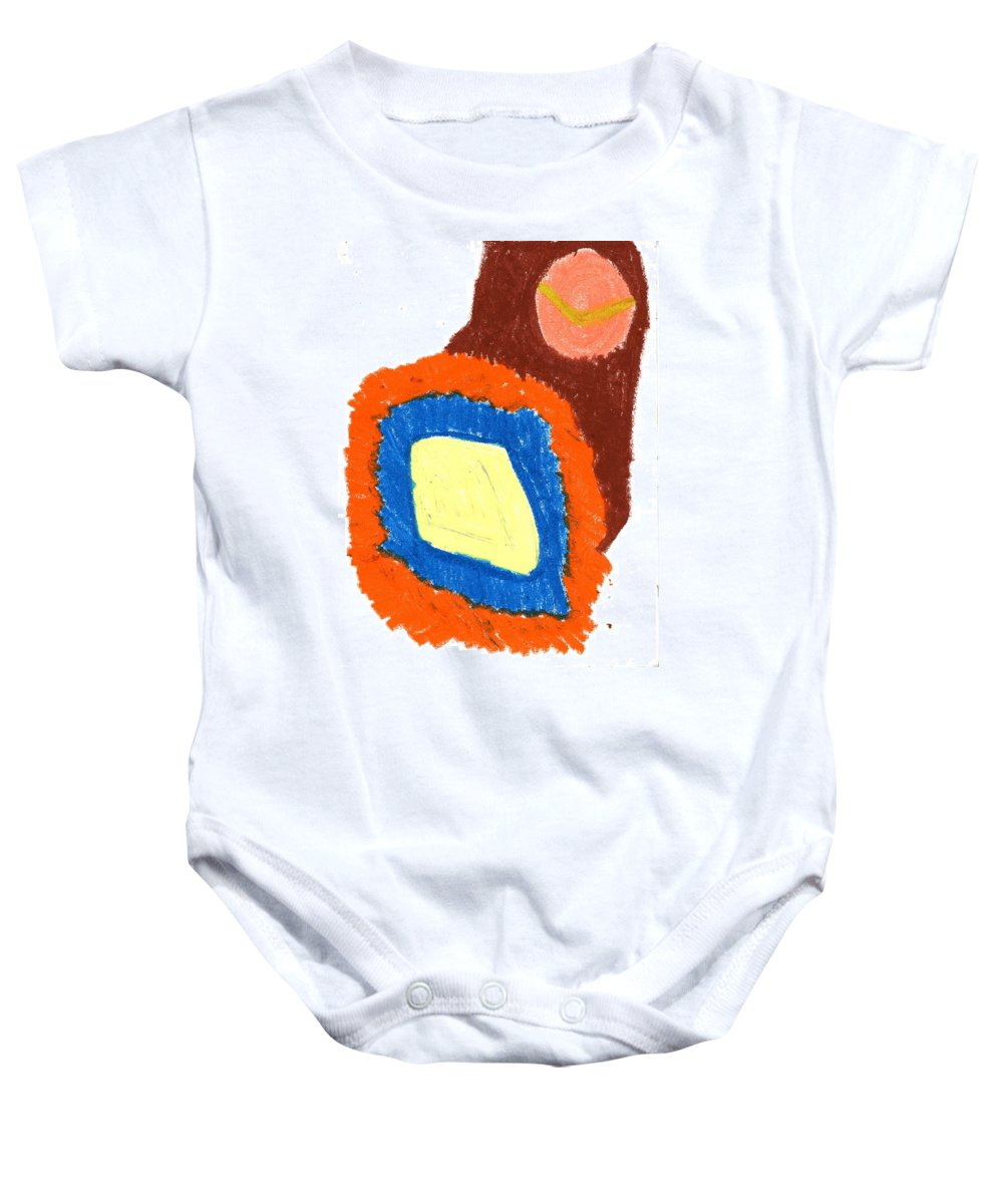 New Fruit Baby Onesie featuring the painting New Fruit by Taylor Webb