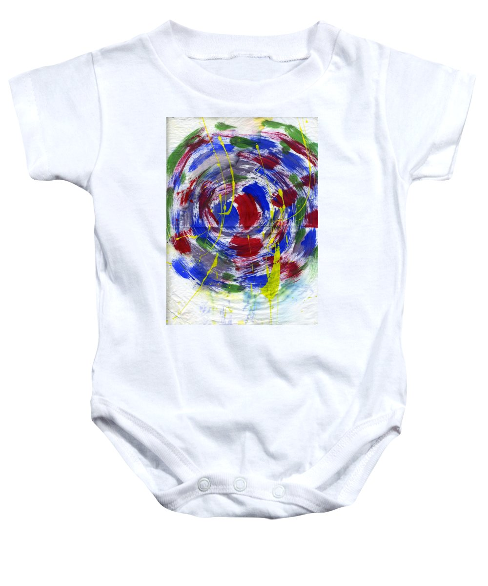 New Universe Baby Onesie featuring the painting New Universe by Taylor Webb