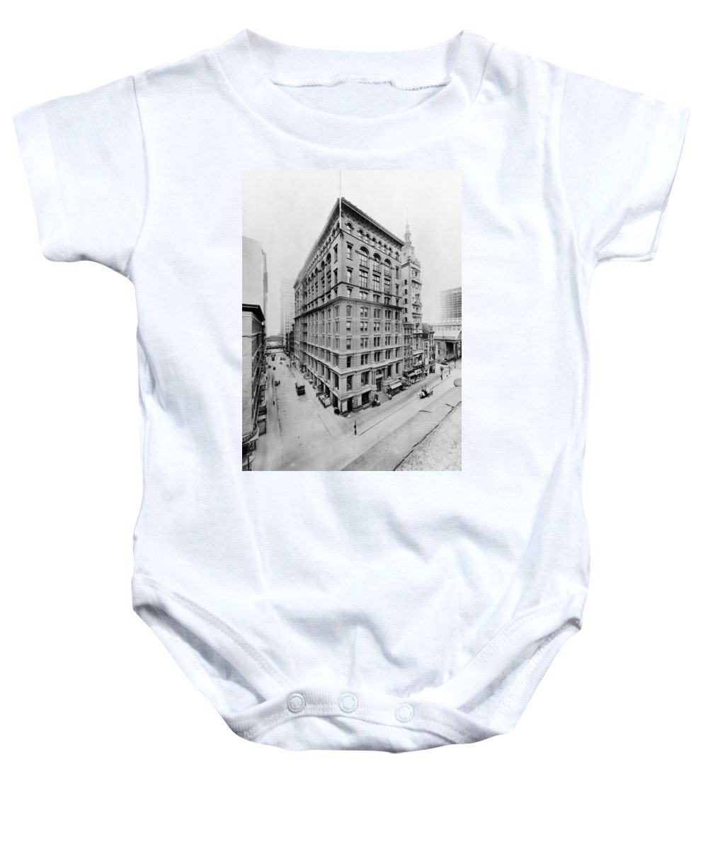 western Union Telegraph Baby Onesie featuring the photograph New York City - Western Union Telegraph Building by International Images