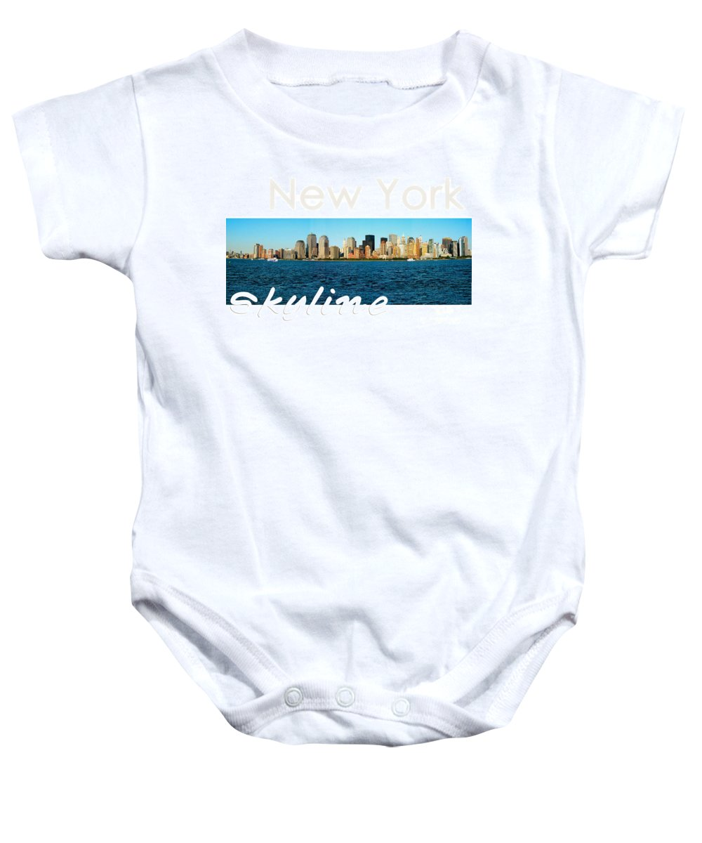New York Baby Onesie featuring the photograph New York Skyline by Syed Aqueel