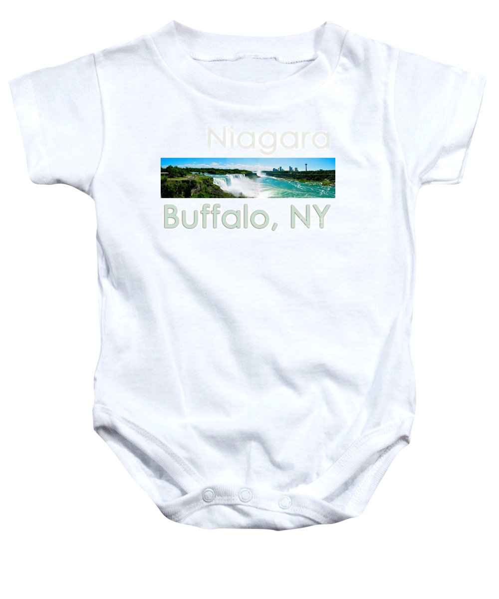Niagara Falls Baby Onesie featuring the photograph Niagara Falls Day Panorama by Syed Aqueel
