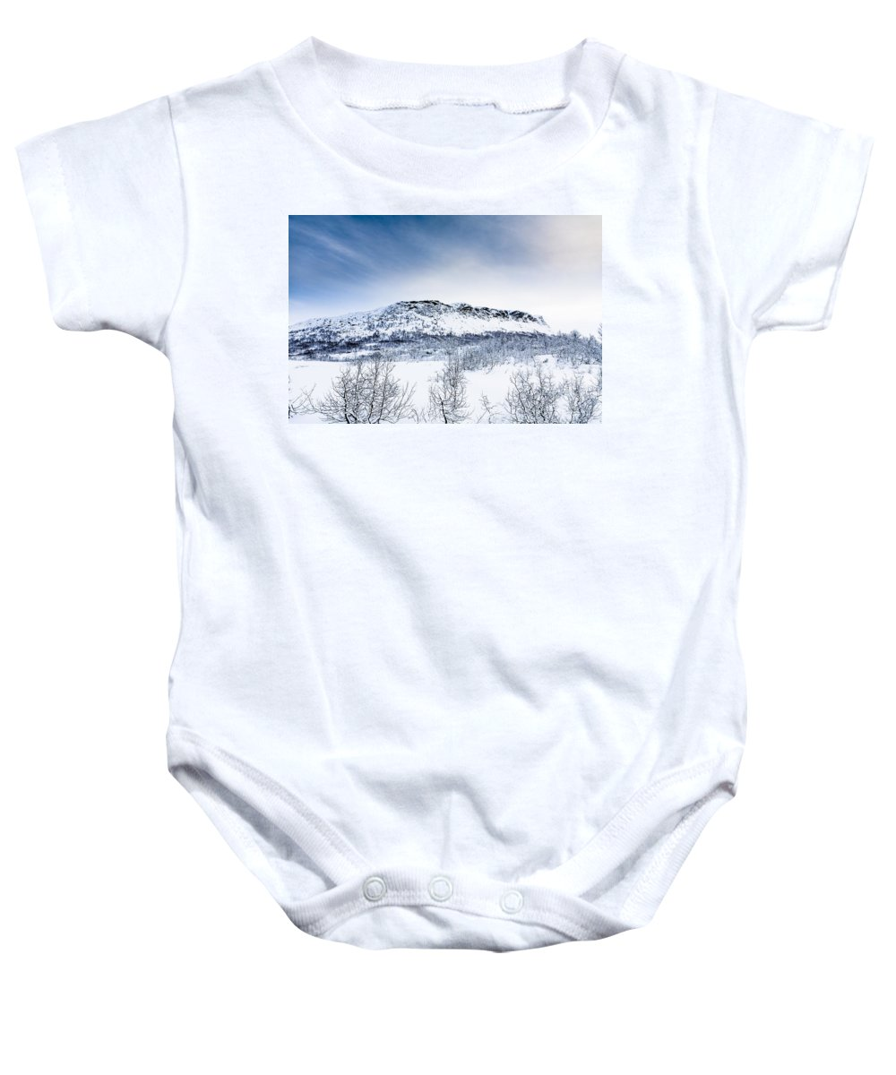 Grytehorgi Baby Onesie featuring the photograph Norwegian Winter by Hakon Soreide