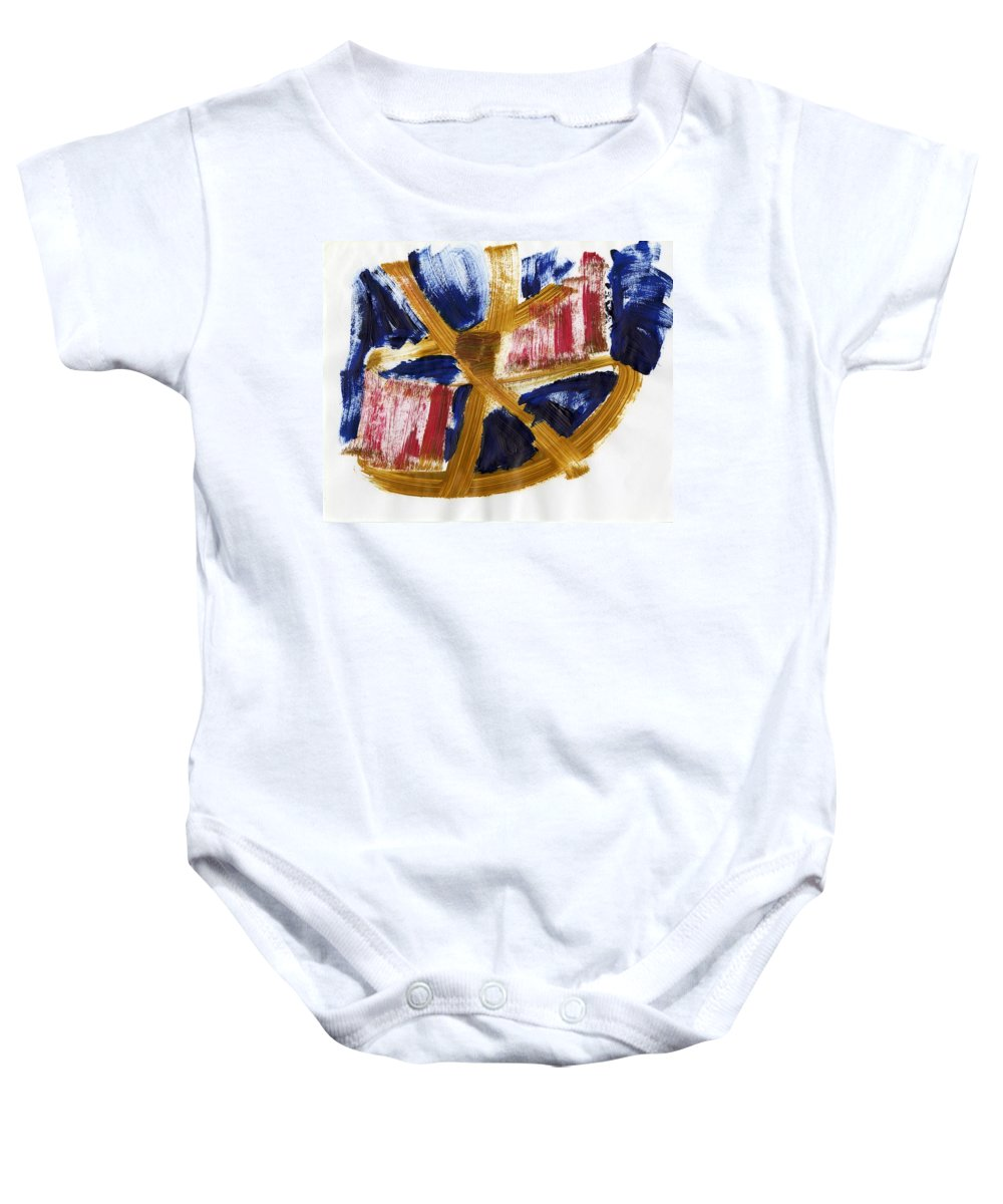 Nostic Thought Baby Onesie featuring the painting Nostic Thought by Taylor Webb