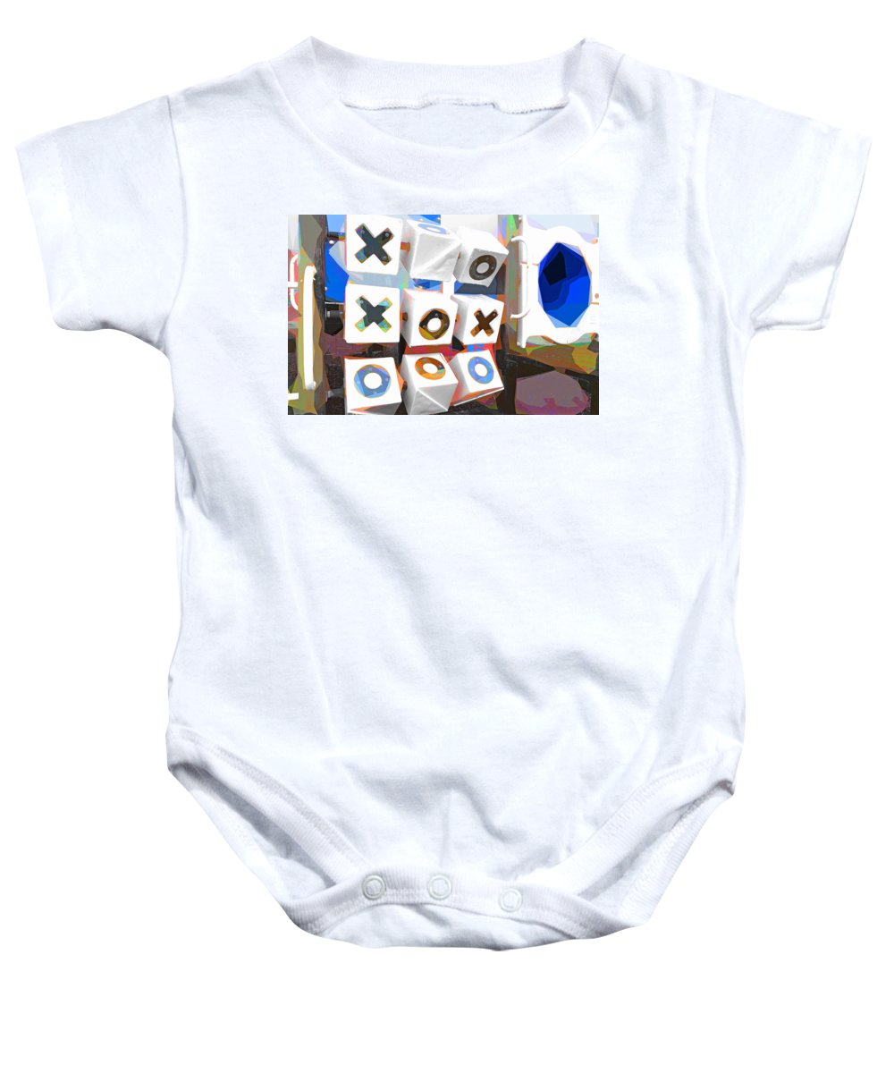 Noughts And Crosses Baby Onesie featuring the photograph Noughts And Crosses by Steve Taylor