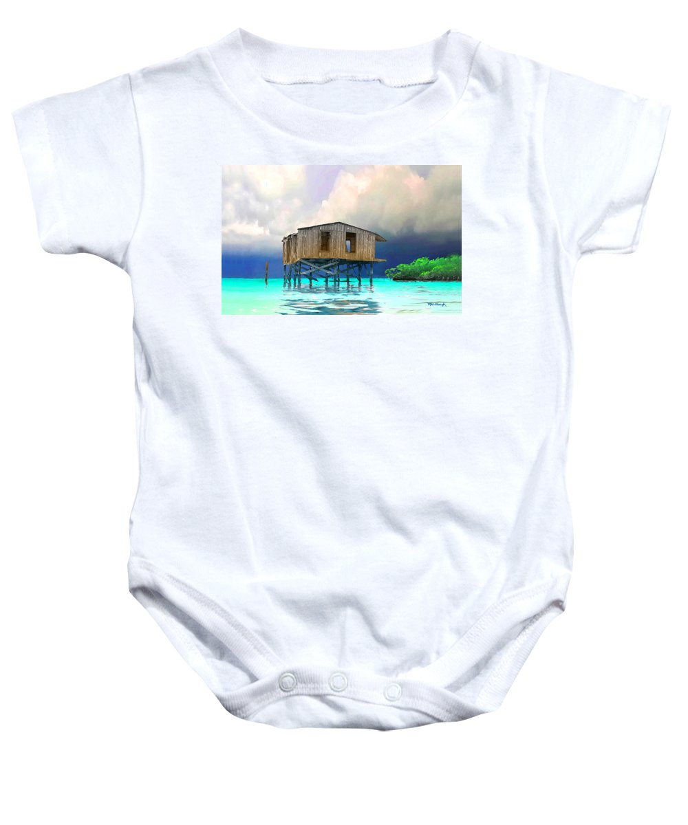 Old House Baby Onesie featuring the photograph Old House Near The Storm Filtered by Duane McCullough