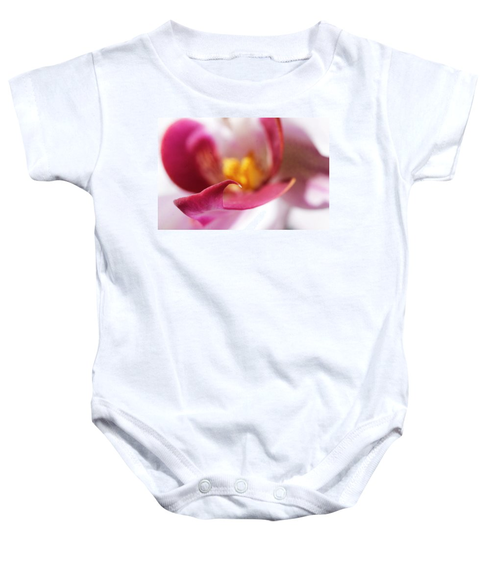 Orchid Baby Onesie featuring the photograph Orchid Leaf by David Resnikoff