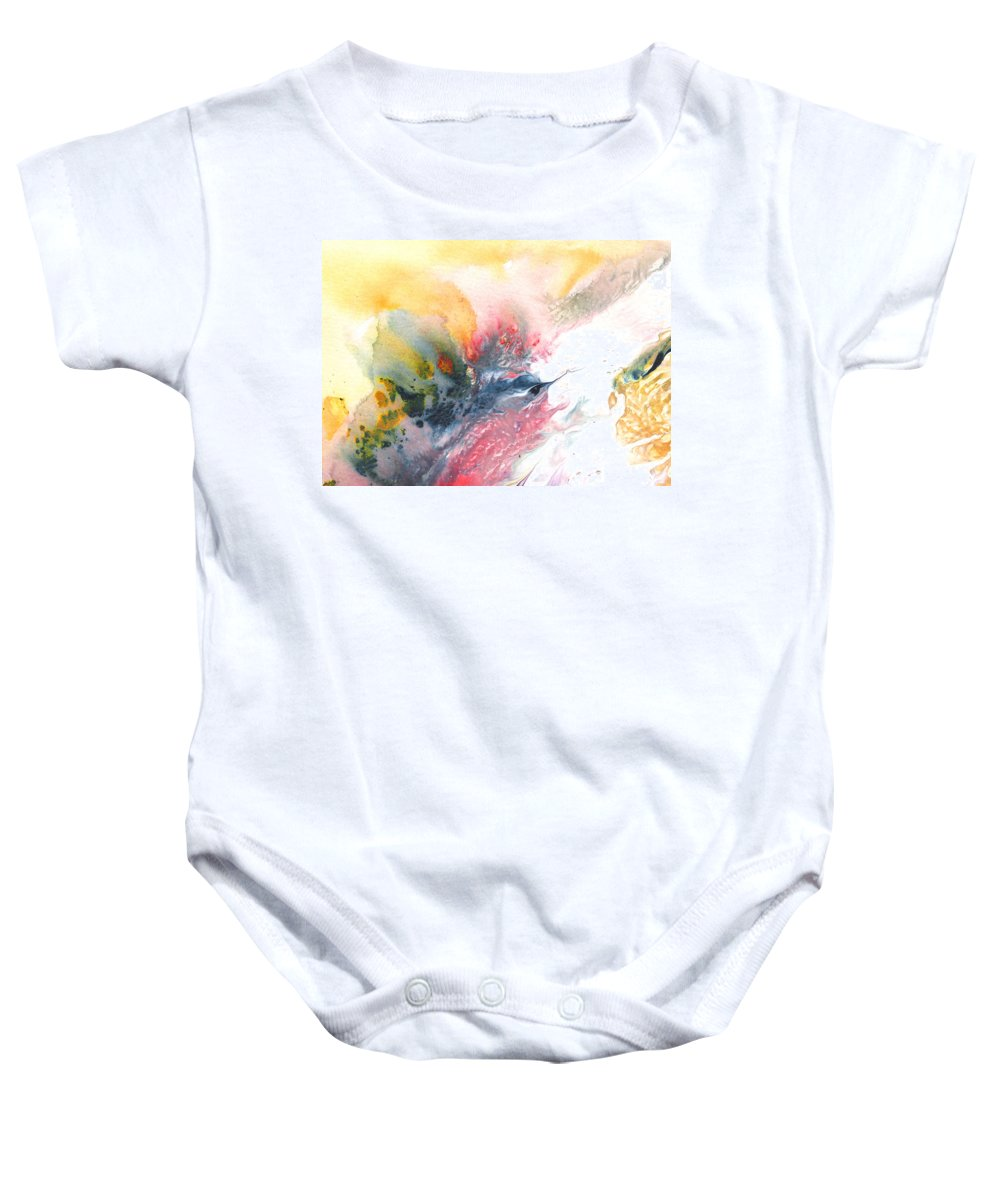 Impressionism Baby Onesie featuring the painting Out Of The Nest by Miki De Goodaboom
