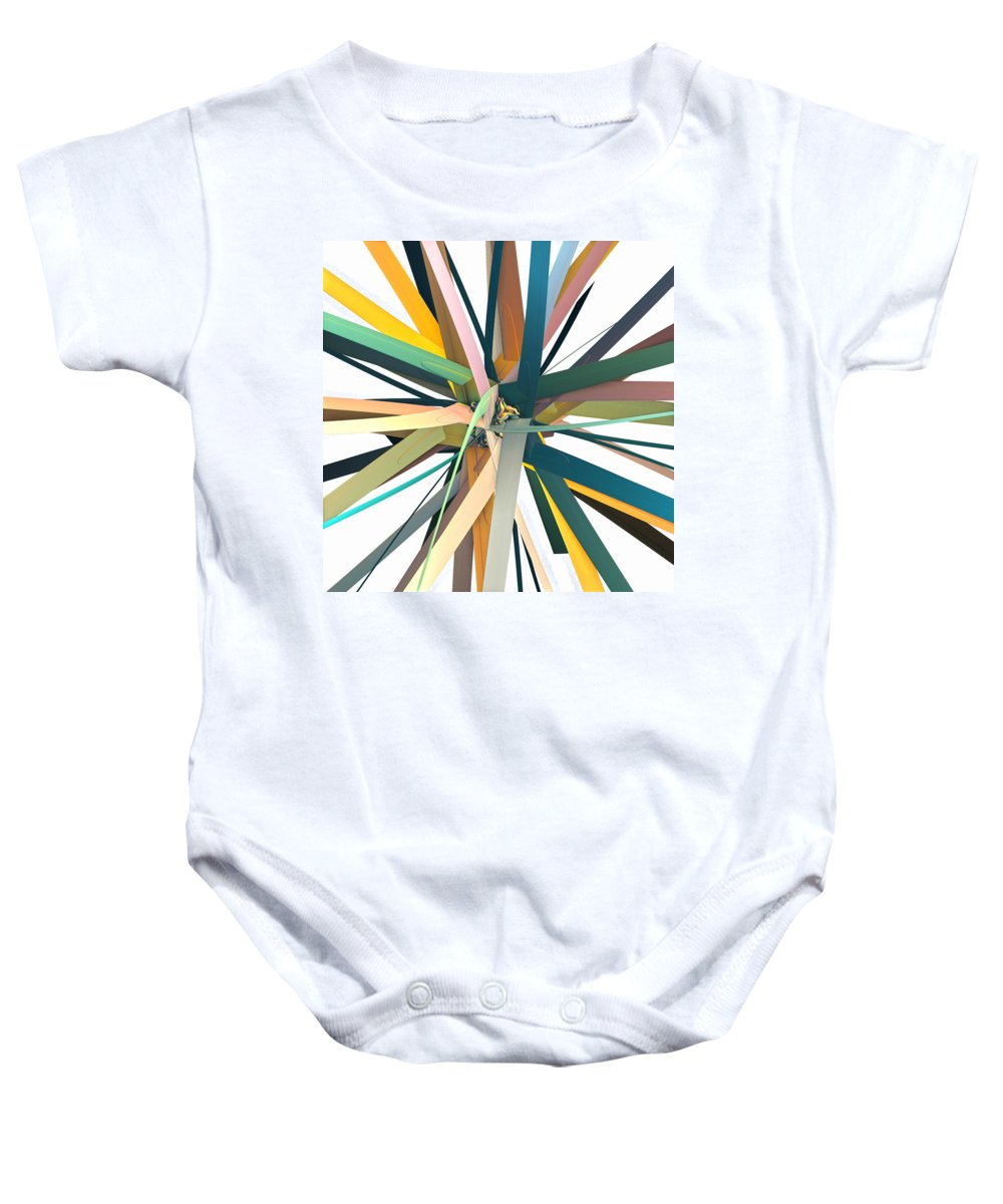 Fractal Baby Onesie featuring the digital art Paper by Betsy Knapp