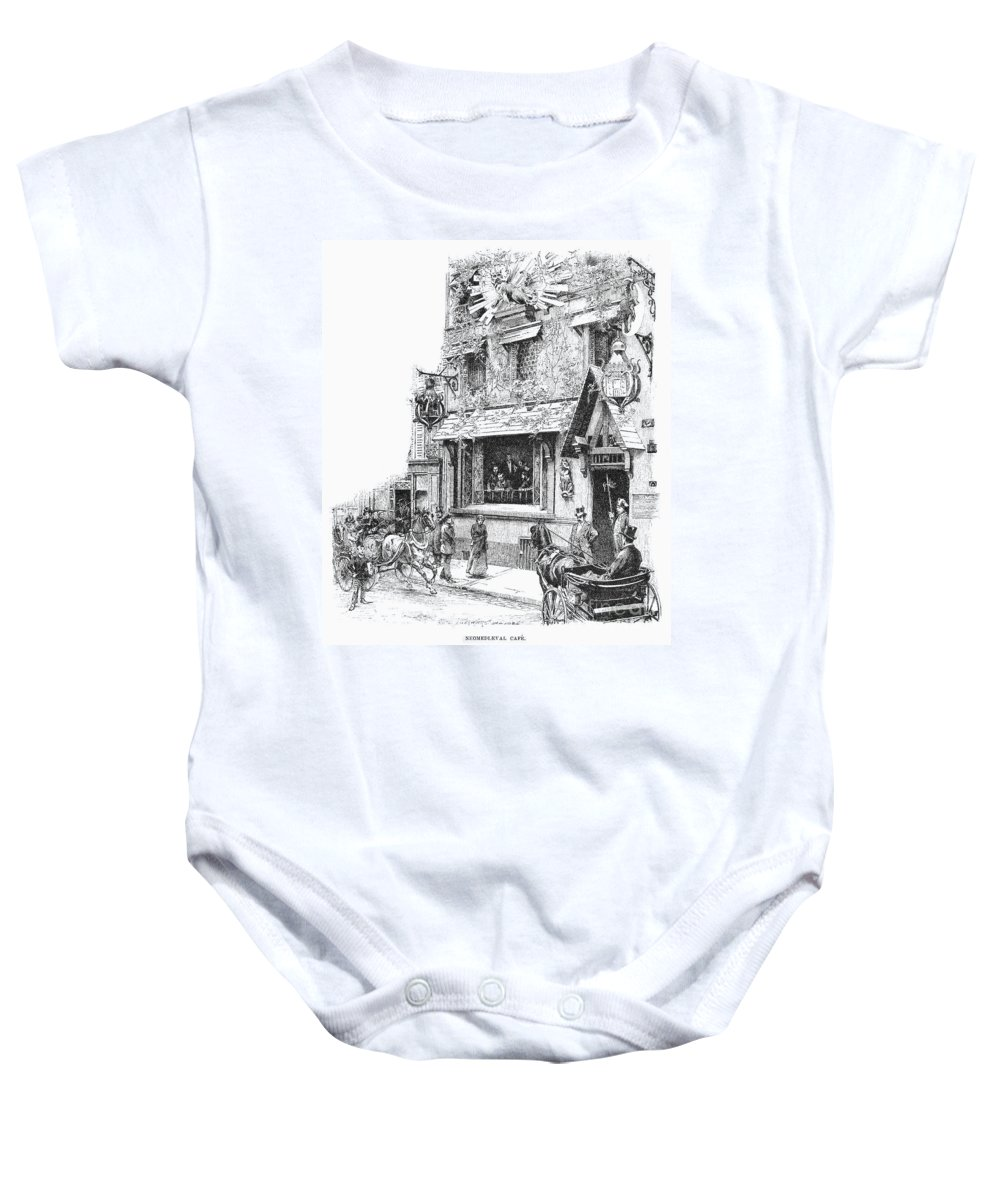 1889 Baby Onesie featuring the photograph Paris: Cafe, 1889 by Granger