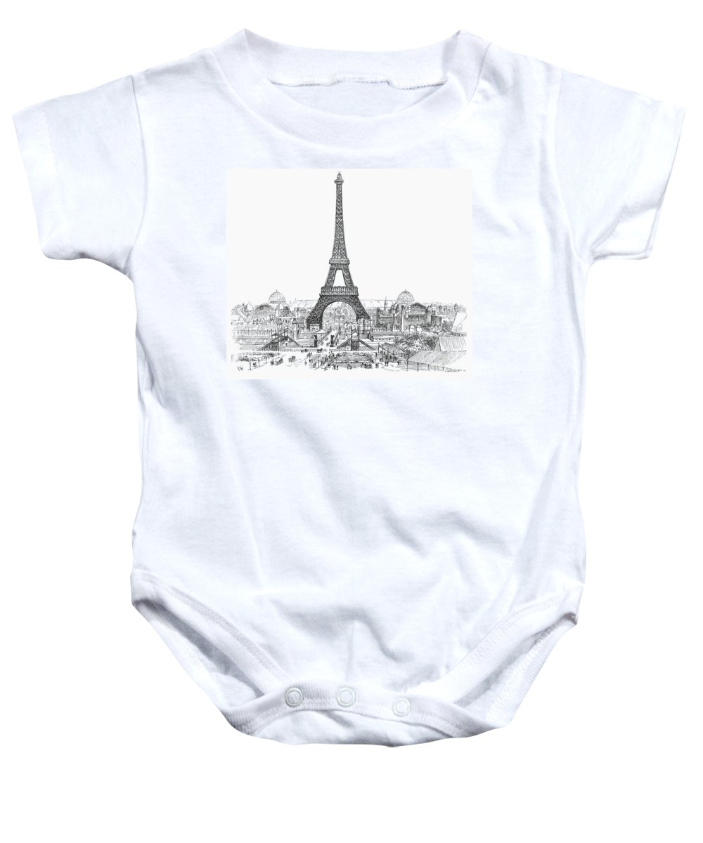 1889 Baby Onesie featuring the photograph Paris Exhibition, 1889 by Granger