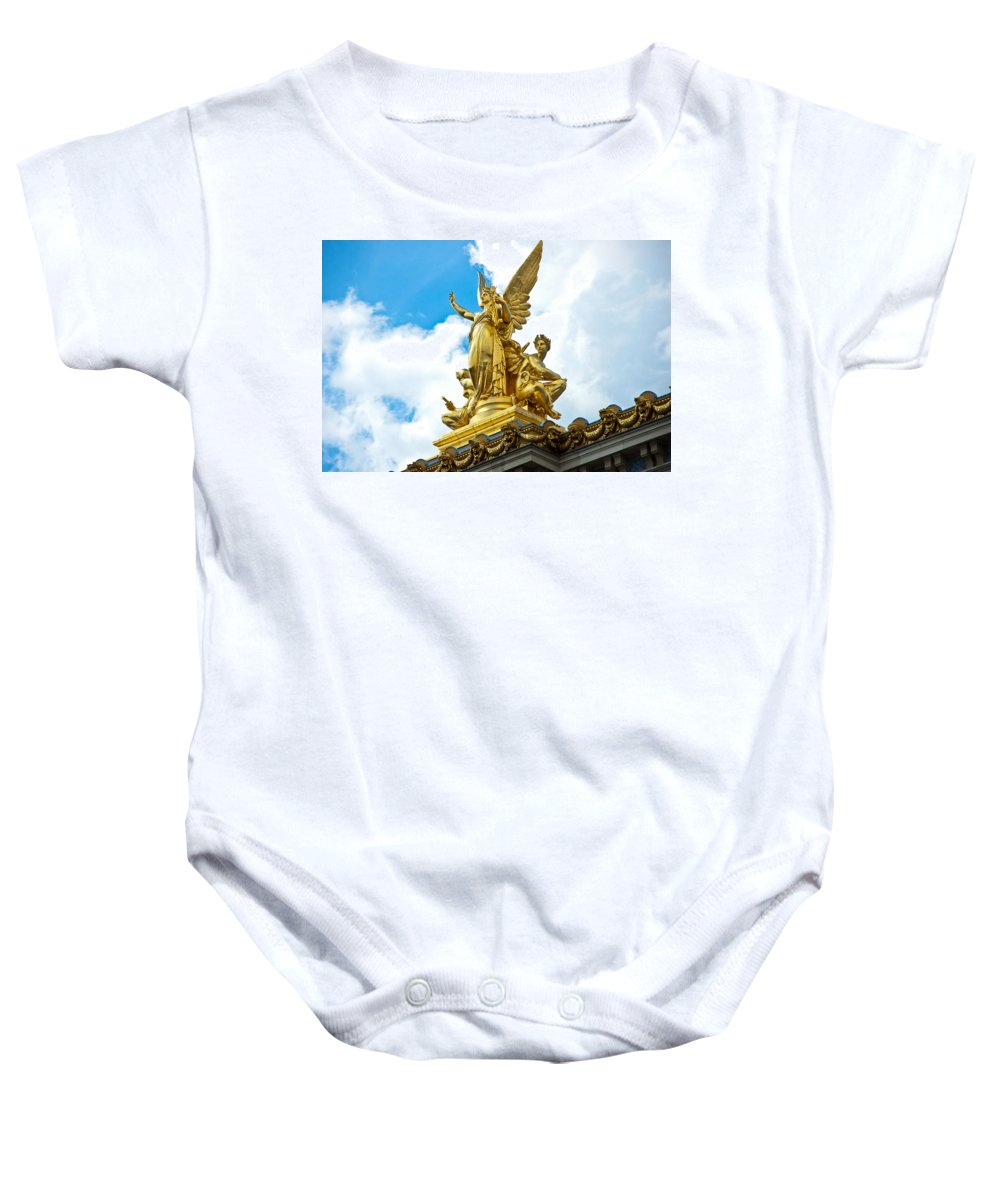 Paris Opera House Baby Onesie featuring the photograph Paris Opera House Vi Exterior Facade by Jon Berghoff