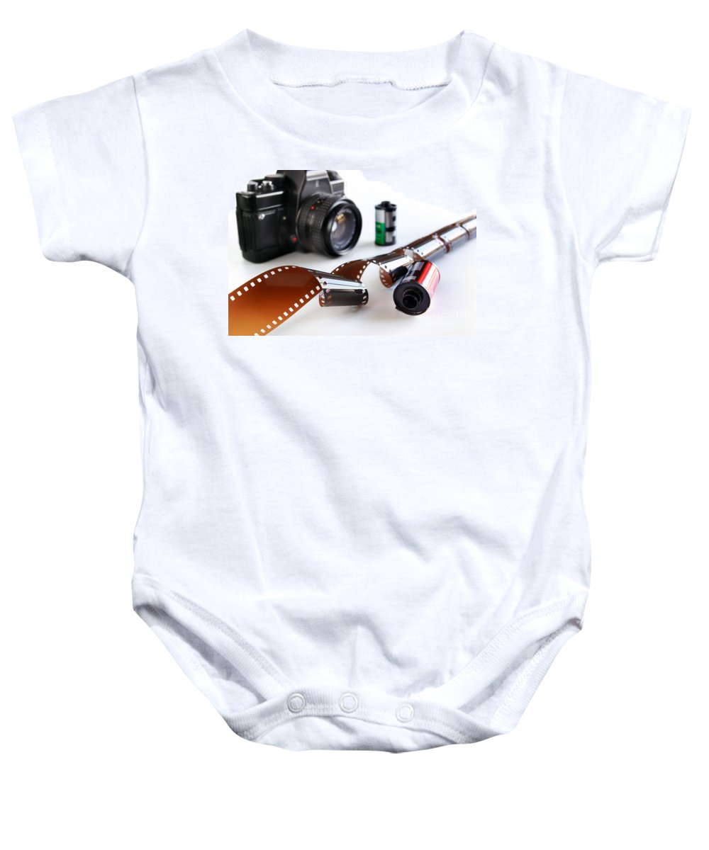 35mm Baby Onesie featuring the photograph Photography Gear by Carlos Caetano