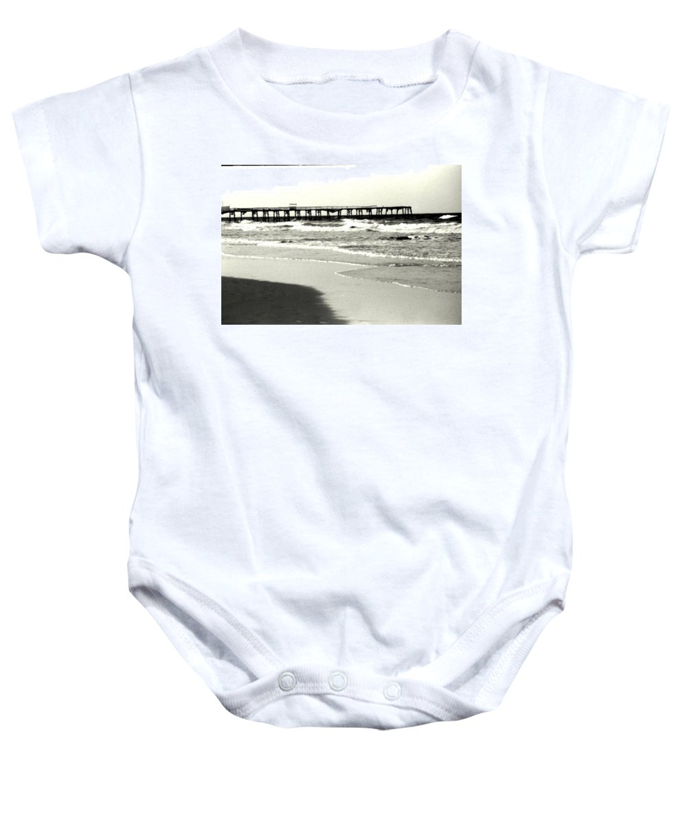 Pier Baby Onesie featuring the photograph Jacksonville Beach Florida Pier 1997 by Phil Cappiali Jr