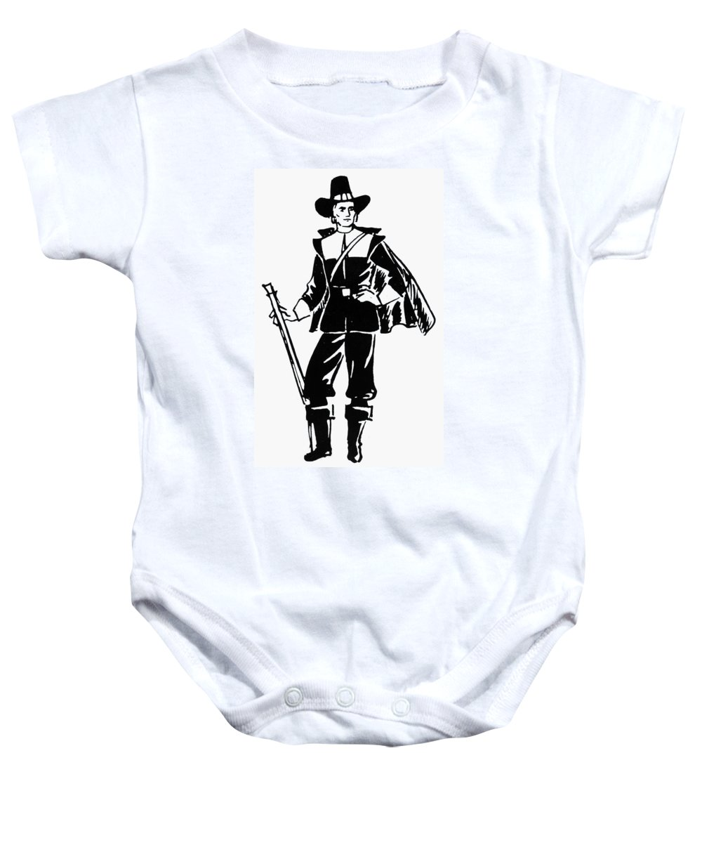17th Century Baby Onesie featuring the photograph Pilgrim, 17th Century by Granger