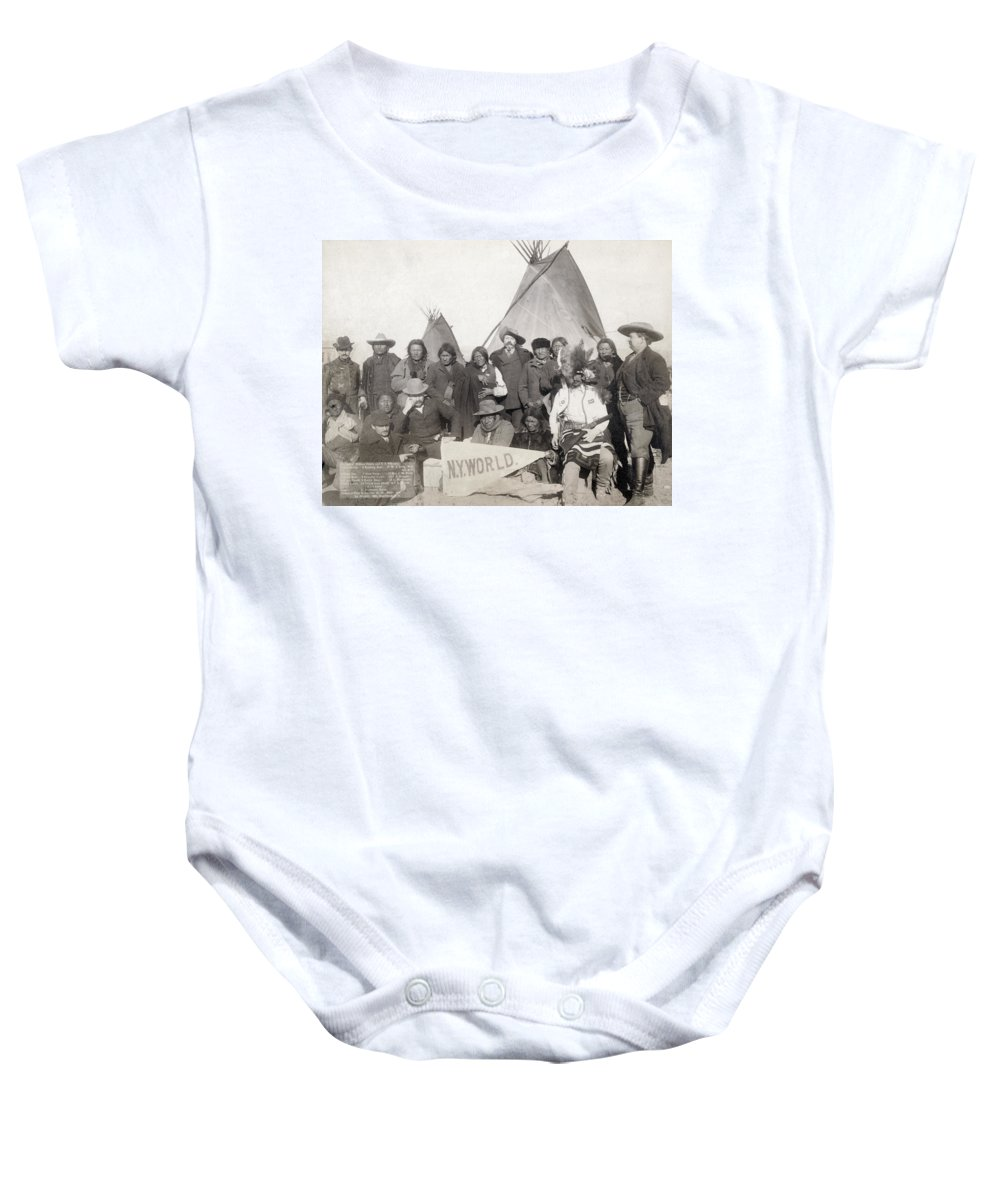 1891 Baby Onesie featuring the photograph Pine Ridge Reservation by Granger