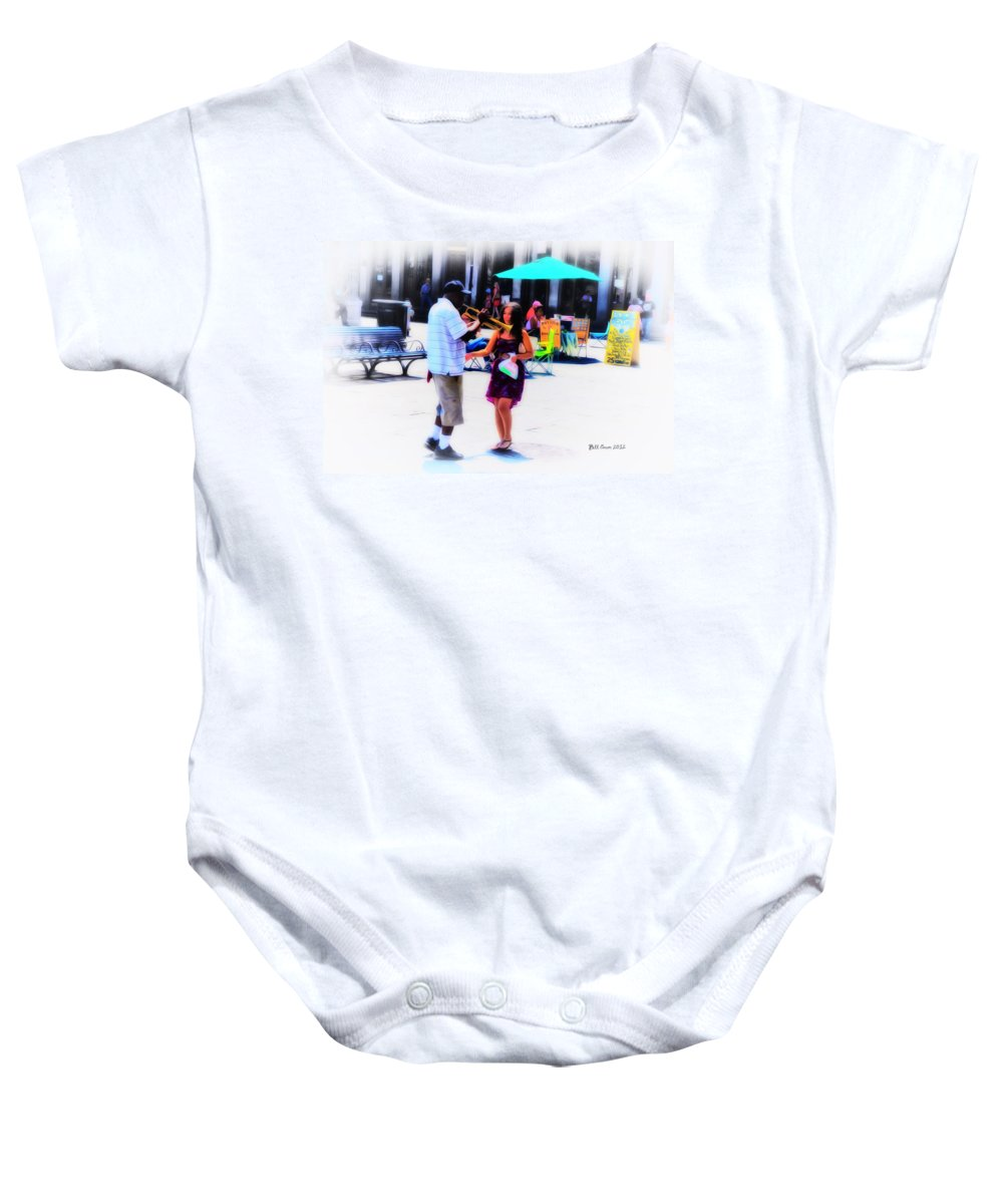Playing For A Pretty Girl - New Orleans Baby Onesie featuring the photograph Playing For A Pretty Girl - New Orleans by Bill Cannon