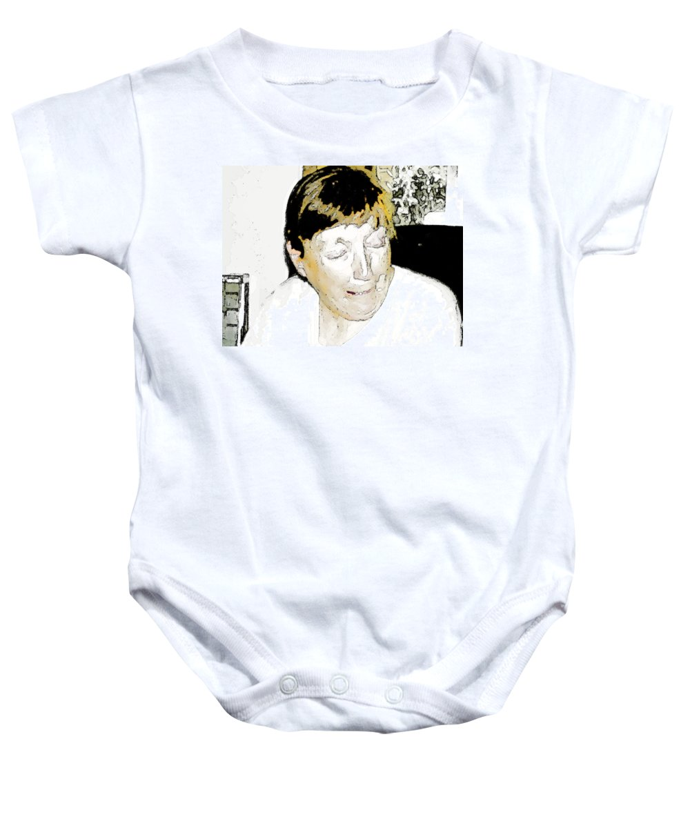 Expressive Baby Onesie featuring the photograph Portrait Of Tears 2 by Lenore Senior