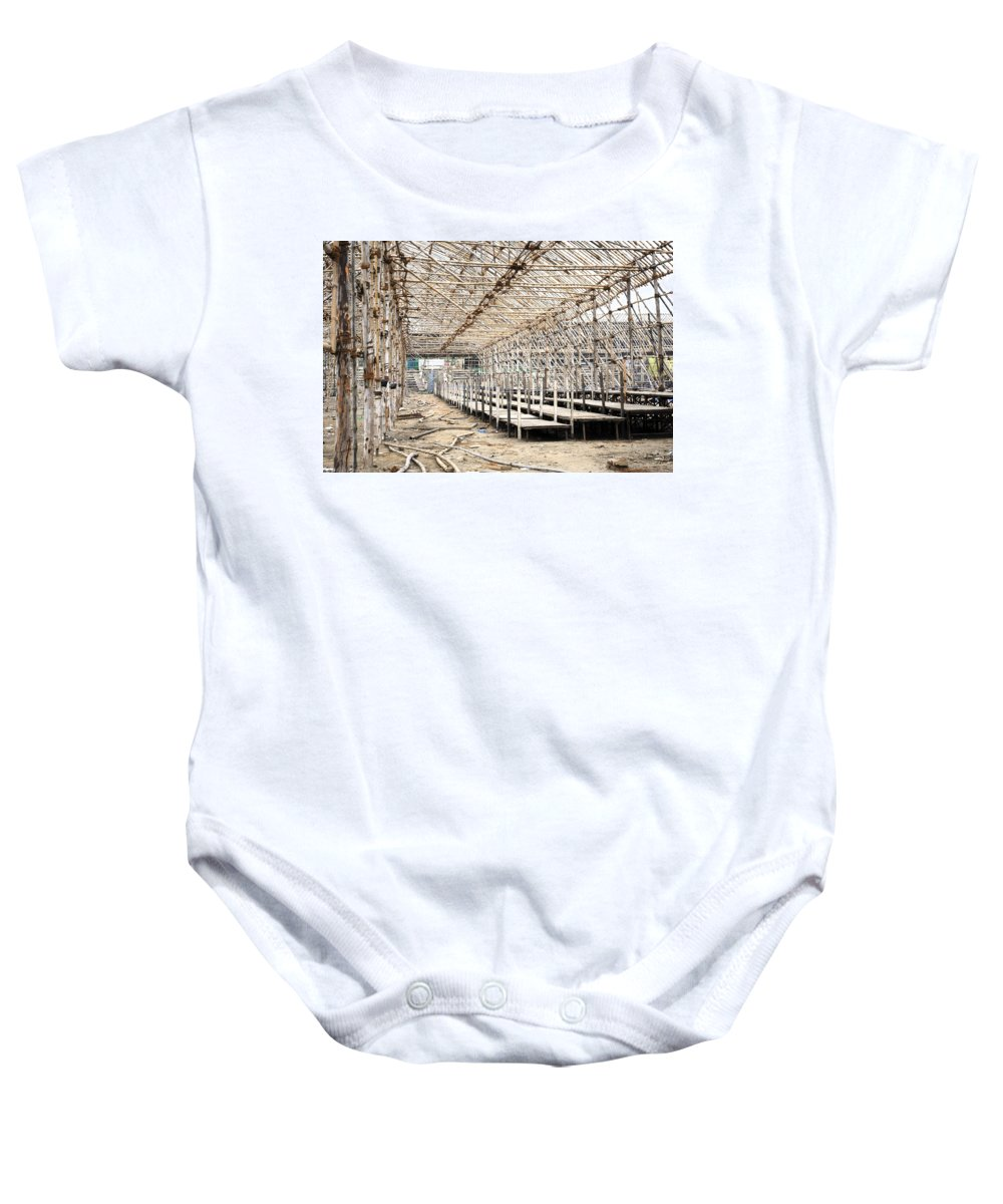 Carnival Baby Onesie featuring the photograph Preparation Of A Circus by Sumit Mehndiratta