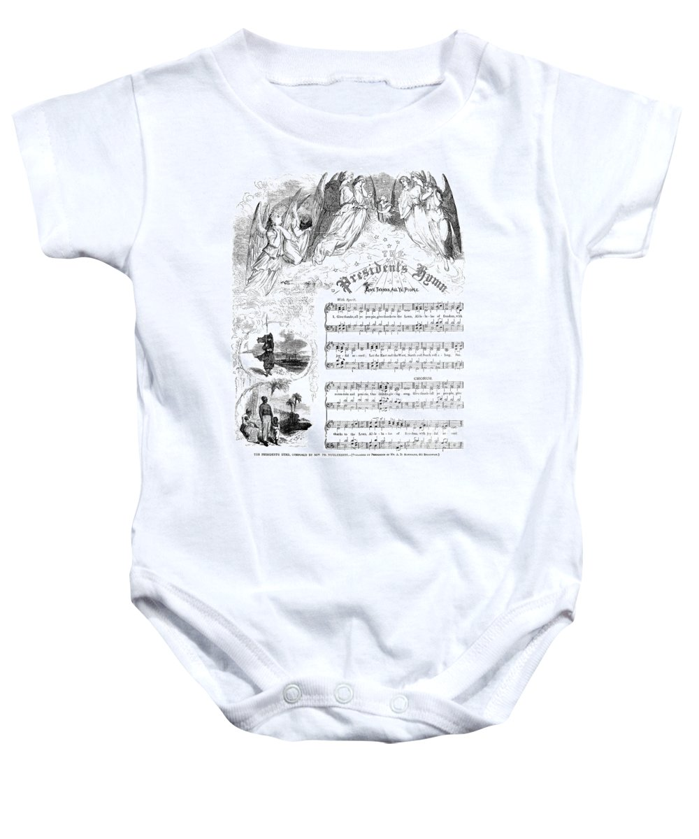1863 Baby Onesie featuring the photograph Presidents Hymn, 1863 by Granger