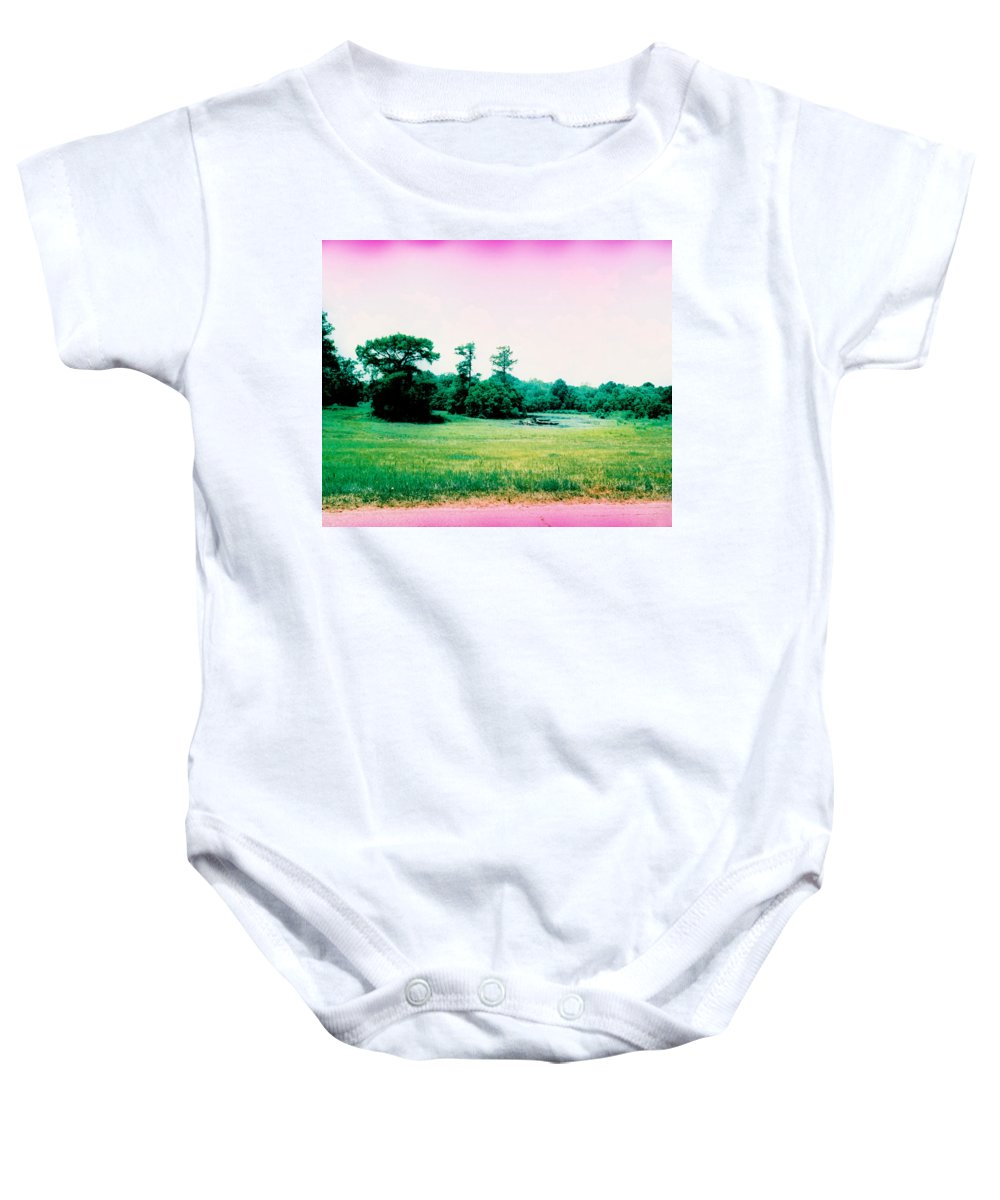Louisiana Baby Onesie featuring the photograph Psychedelic Slew by Doug Duffey