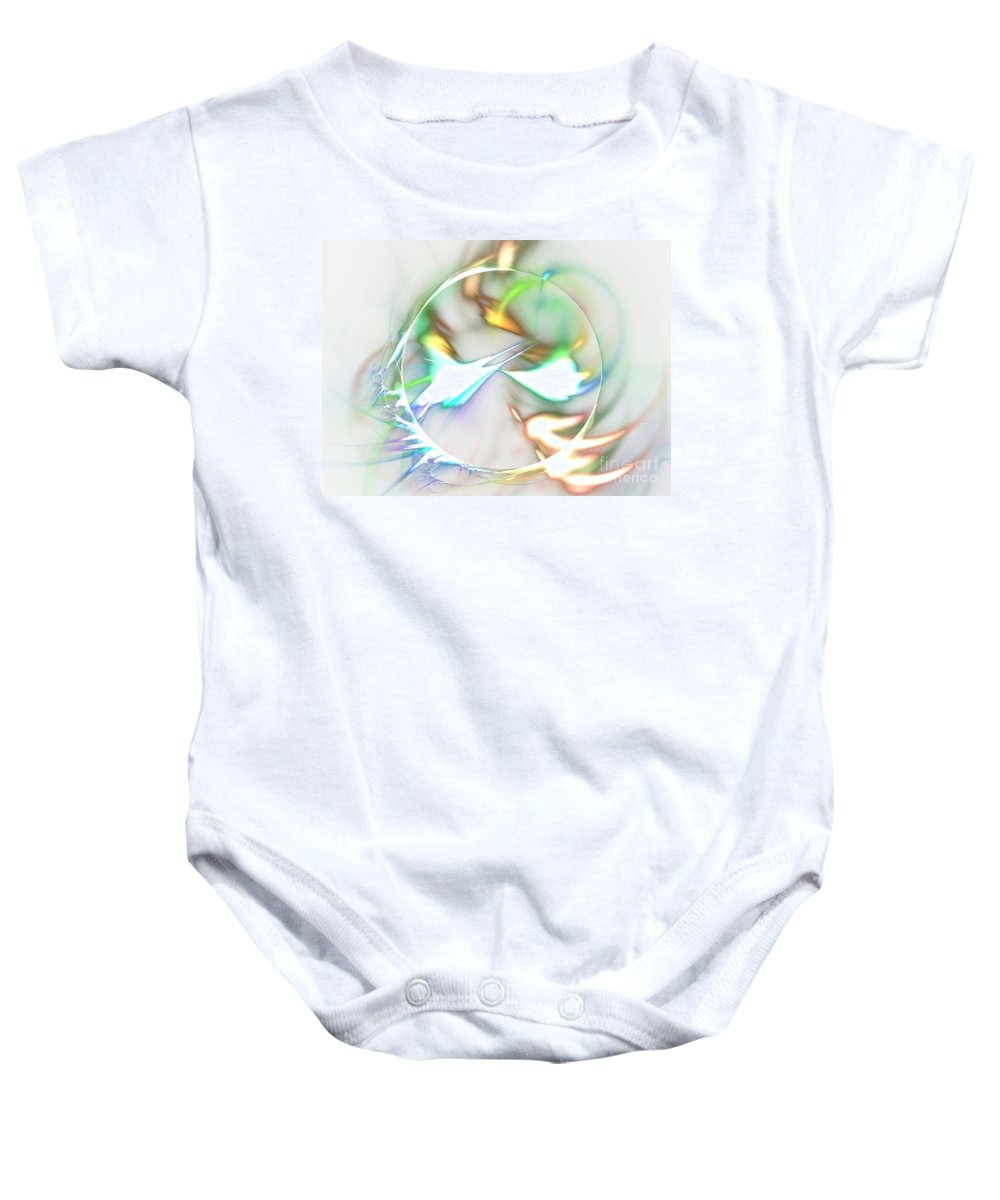 Apophysis Baby Onesie featuring the digital art Quasars by Kim Sy Ok