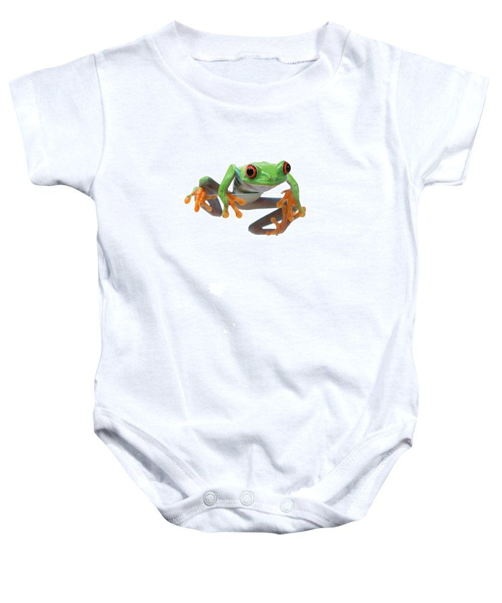 Color Baby Onesie featuring the photograph Red-eyed Treefrog by Corey Hochachka
