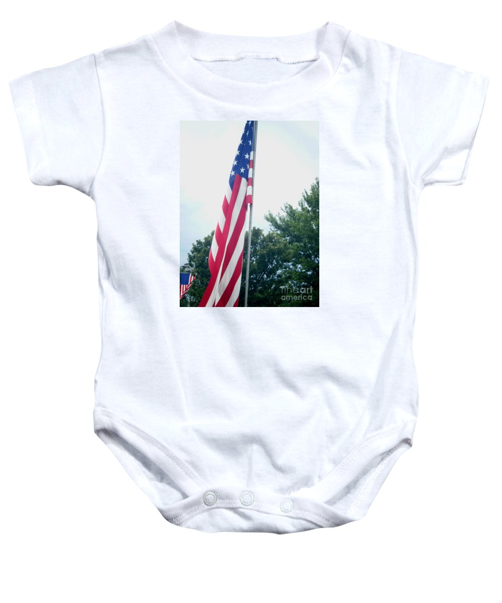 Landscapes Baby Onesie featuring the photograph Remembering 9-11 by April Patterson
