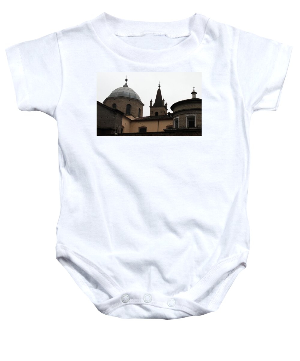 Rome Baby Onesie featuring the photograph Rome Church by Munir Alawi