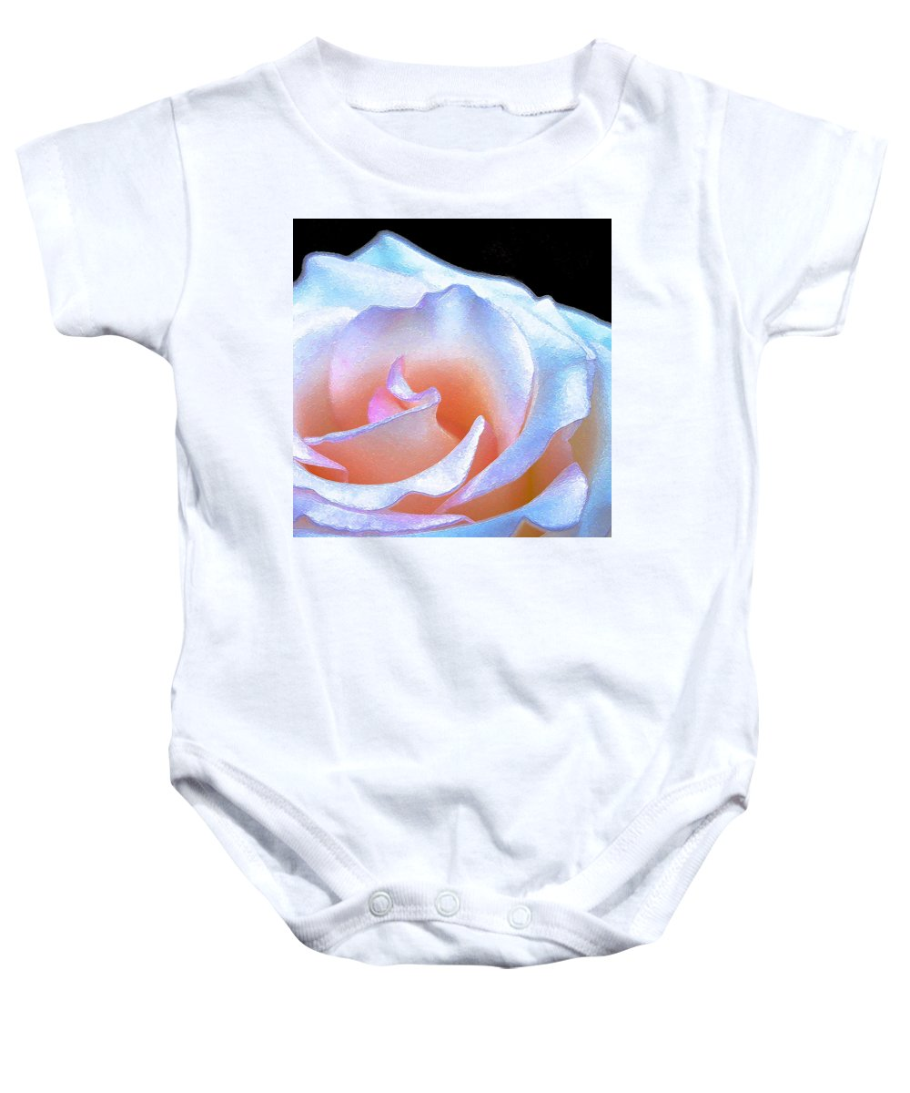Floral Baby Onesie featuring the photograph Rose 158 by Pamela Cooper