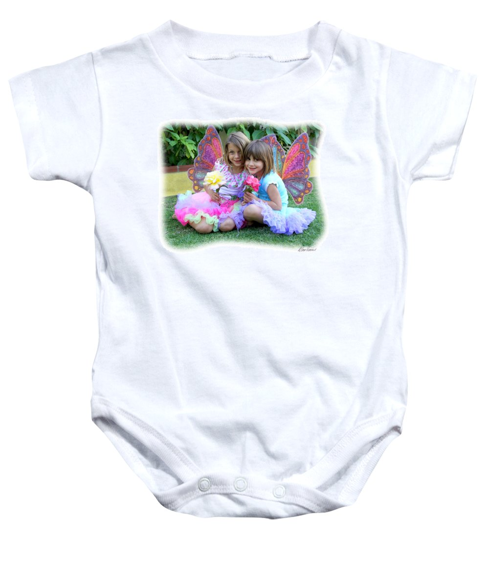 Fairy Baby Onesie featuring the photograph Rose Faeries by Diana Haronis