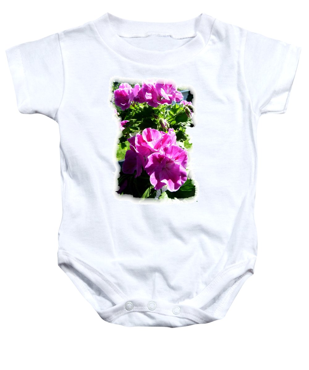 Scented Geraniums Baby Onesie featuring the photograph Scented Geraniums by Will Borden