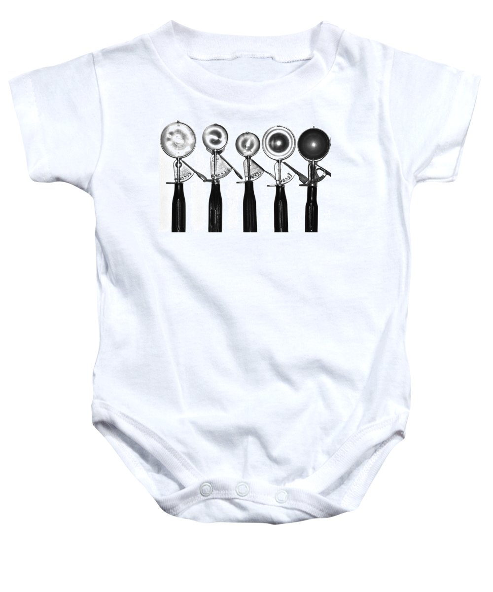 Ice Cream Baby Onesie featuring the photograph Scoops In Line by Valerie Rosen