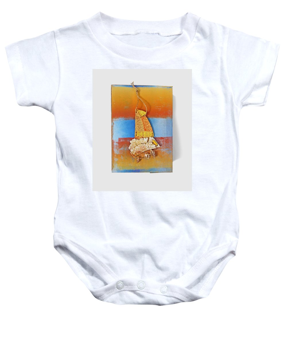 Sculpture Baby Onesie featuring the painting Sea Change by Charles Stuart