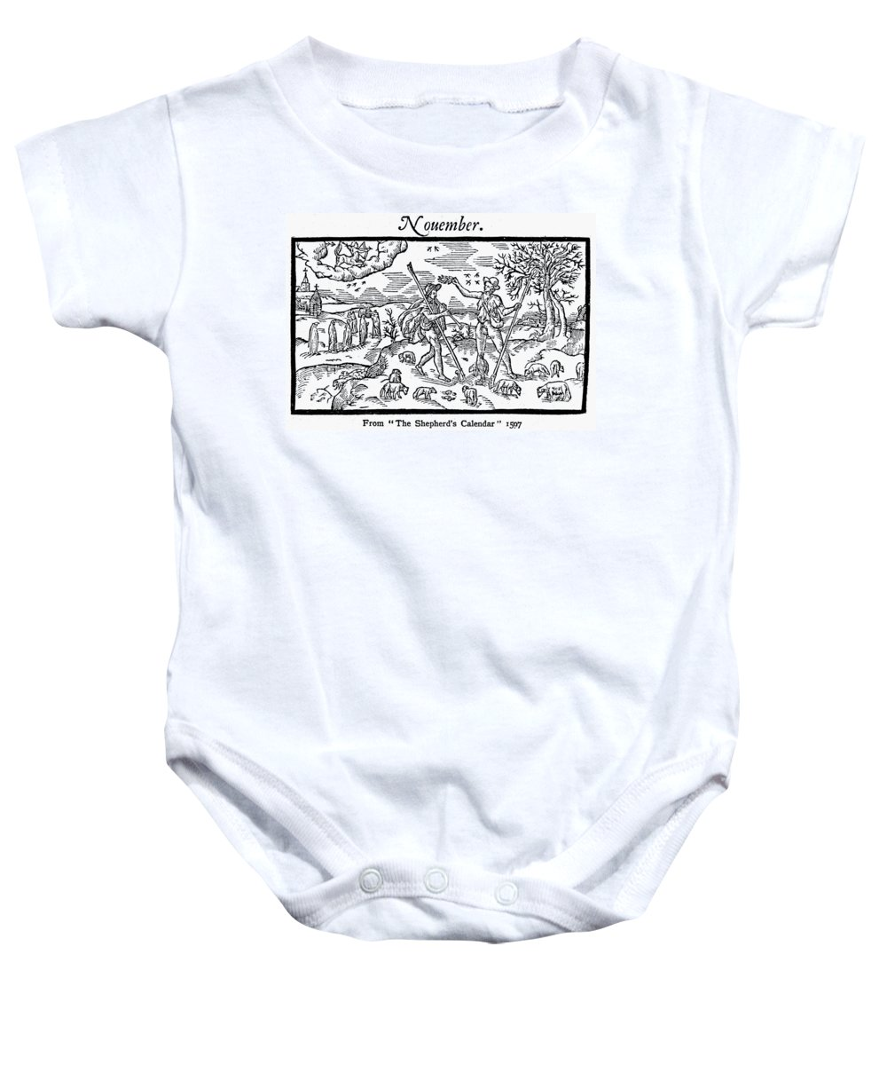 1597 Baby Onesie featuring the photograph Shepherd, 1597 by Granger