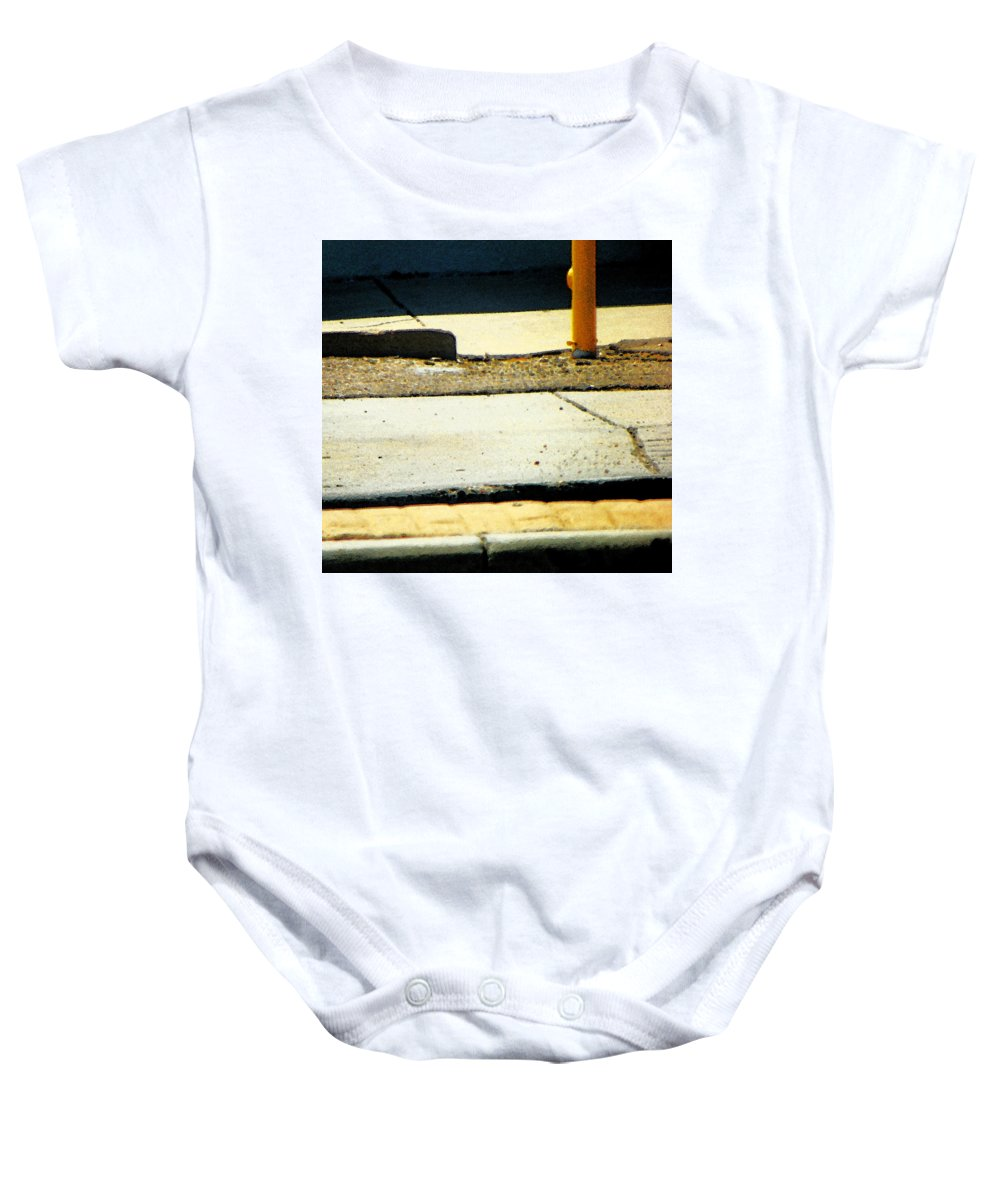 Abstract Baby Onesie featuring the photograph Sidewalk Abstract by Lenore Senior