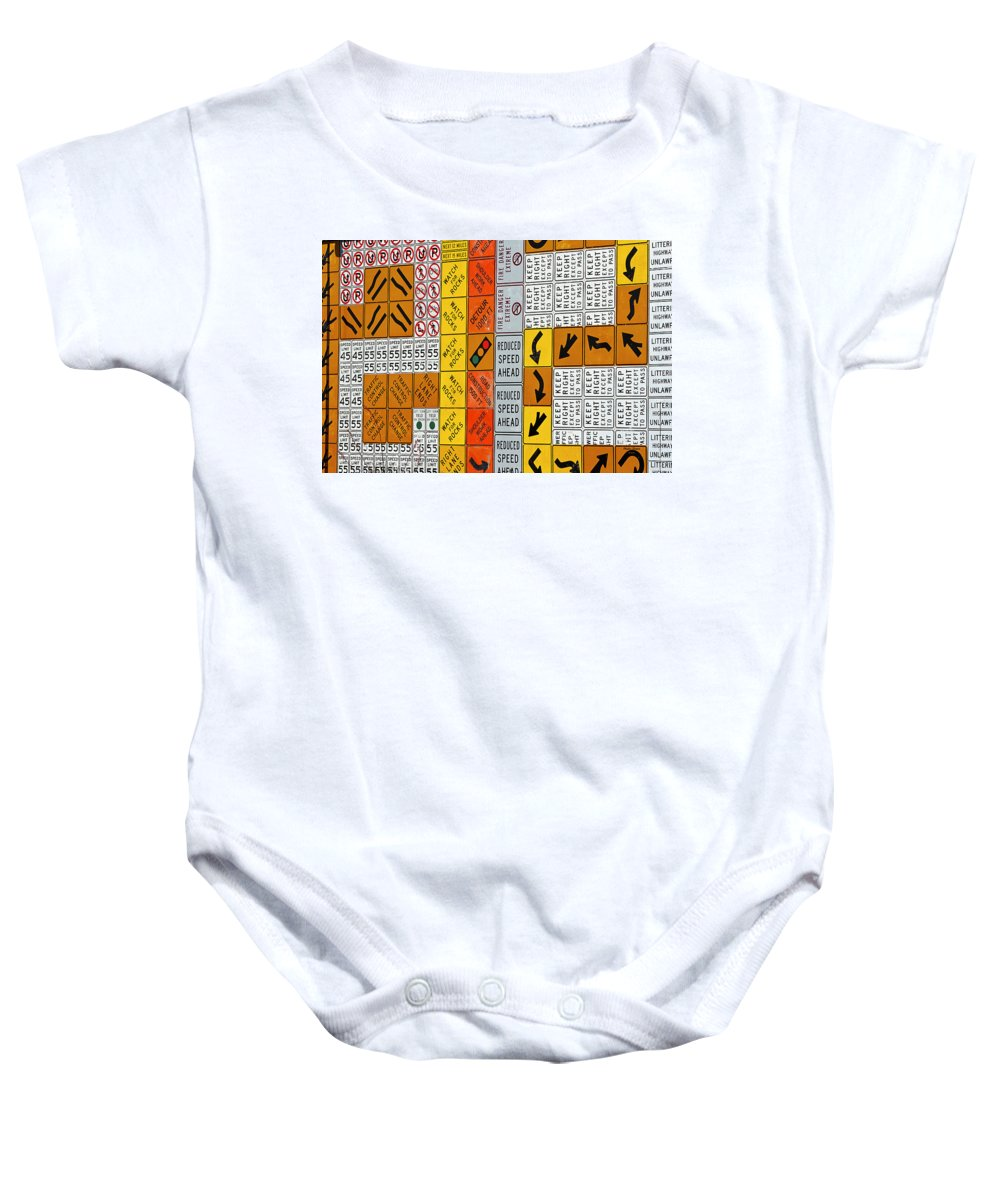 Signs Baby Onesie featuring the photograph Signs by Phyllis Denton