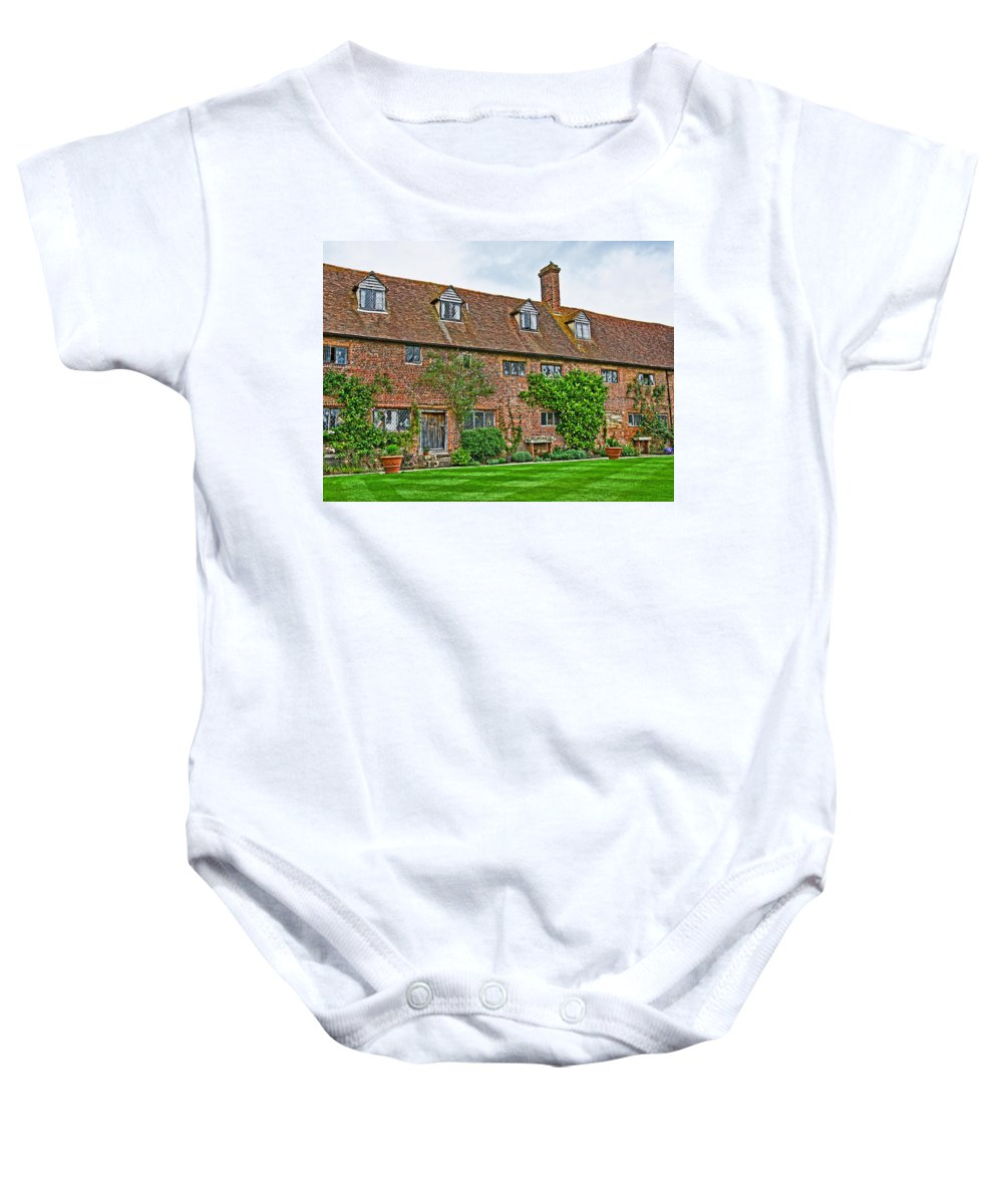 Sissinghurst Castle Baby Onesie featuring the photograph Sissinghurst Castle by Chris Thaxter