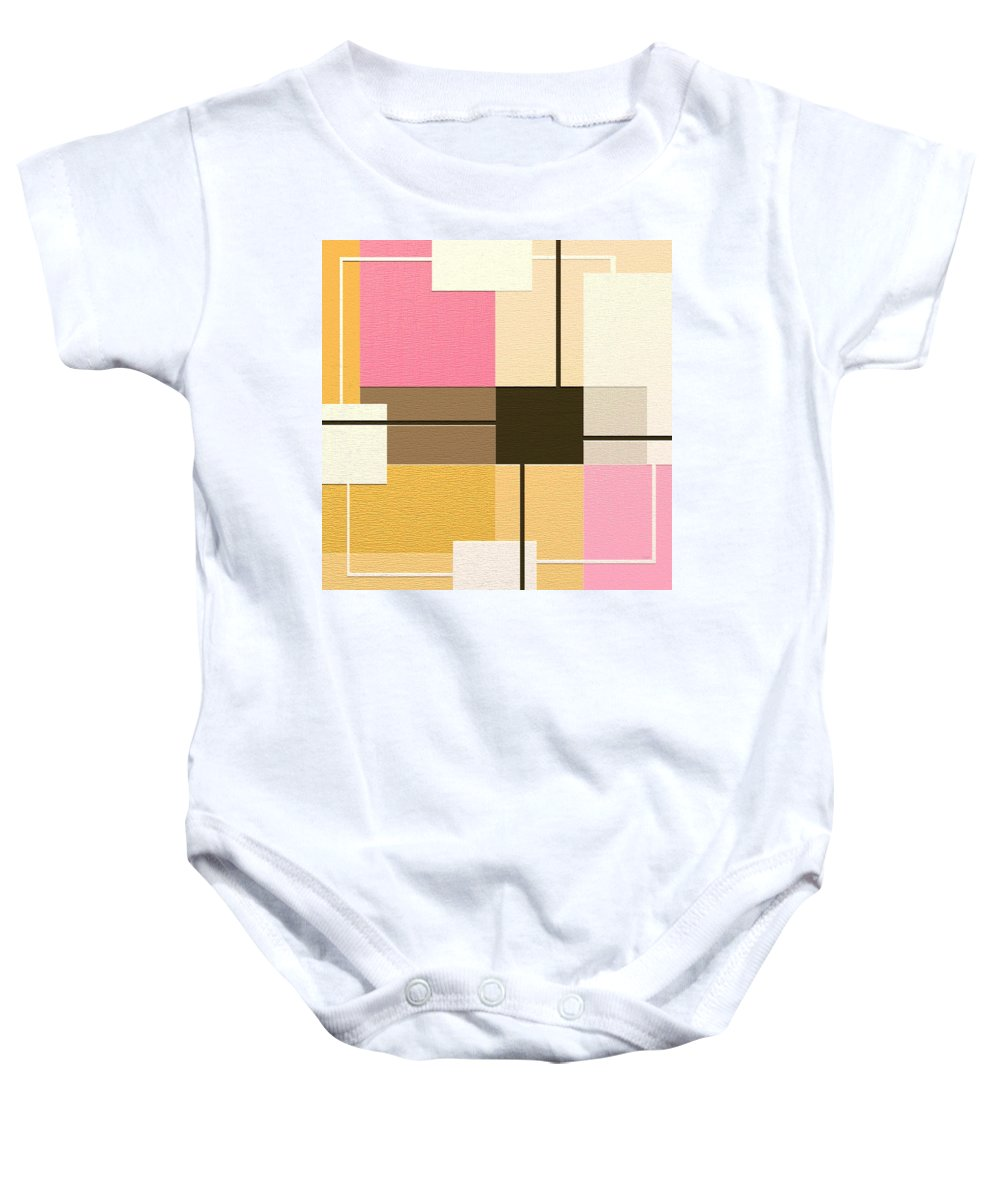 Abstract Art Baby Onesie featuring the painting Slide by Ely Arsha