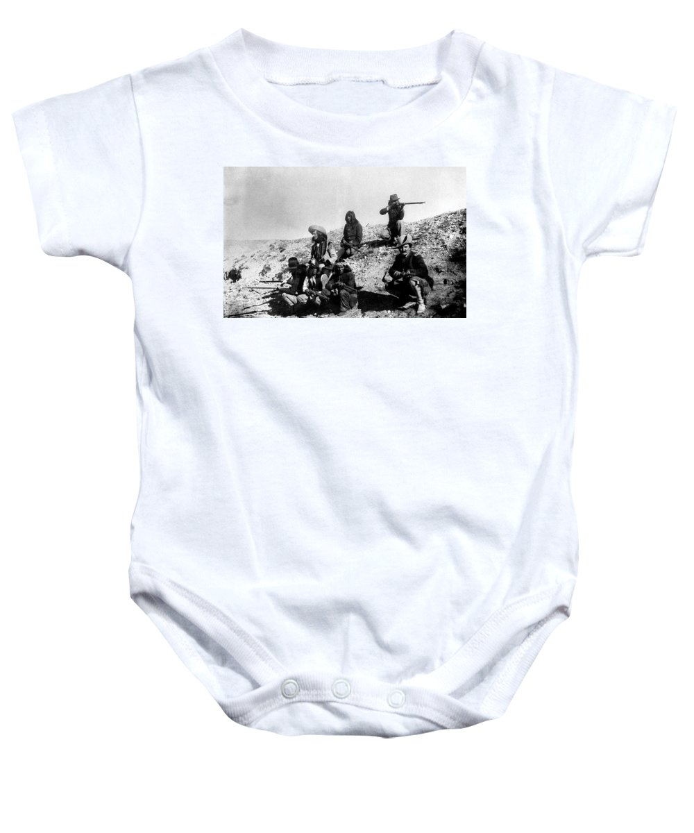 19th Century Baby Onesie featuring the photograph Soldiers And Scouts by Granger