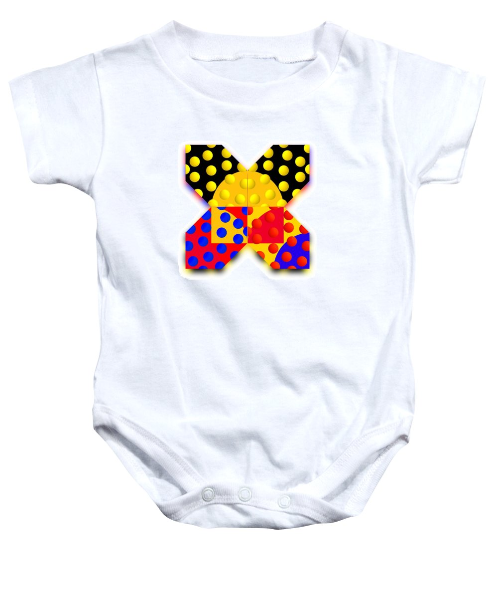 X Baby Onesie featuring the painting Sport Spot by Charles Stuart