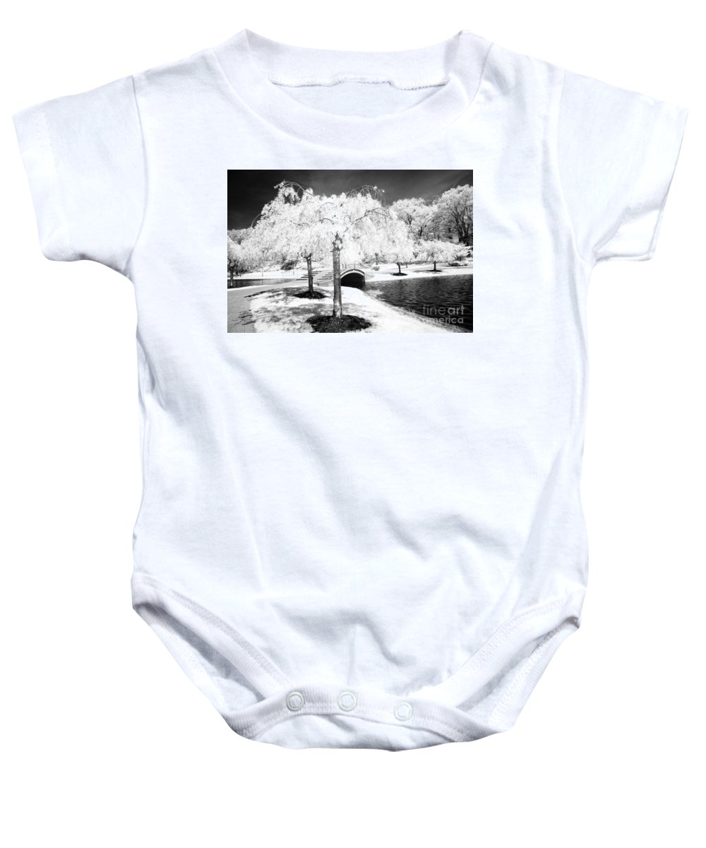 Infrared Baby Onesie featuring the photograph Spring In Infrared by Paul W Faust - Impressions of Light