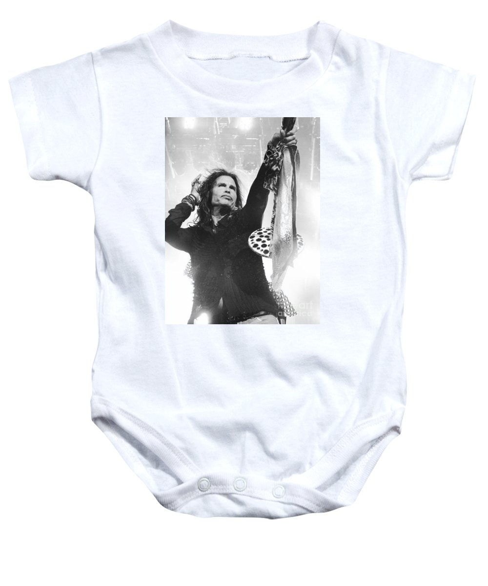 Steven Tyler Baby Onesie featuring the photograph Steven Tyler by Traci Cottingham