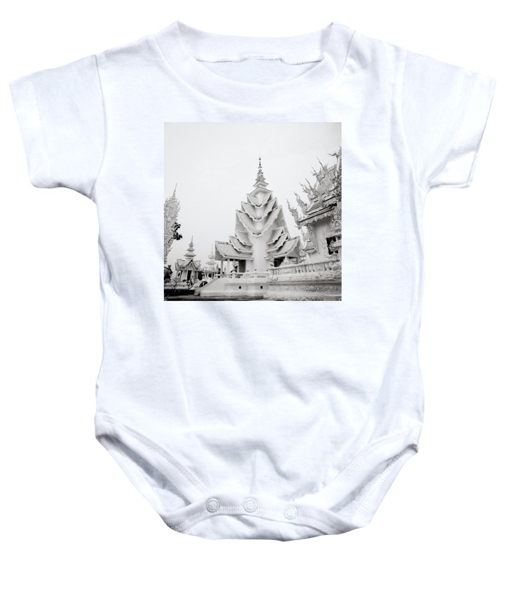 B&w Baby Onesie featuring the photograph Style by Shaun Higson