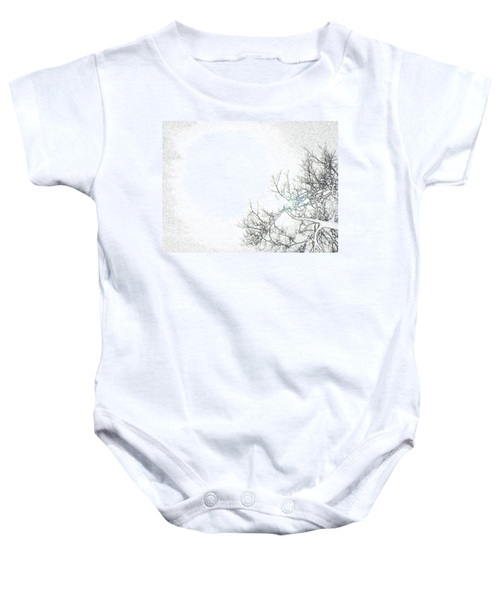 Abstract Baby Onesie featuring the photograph Sun 2 by Lenore Senior
