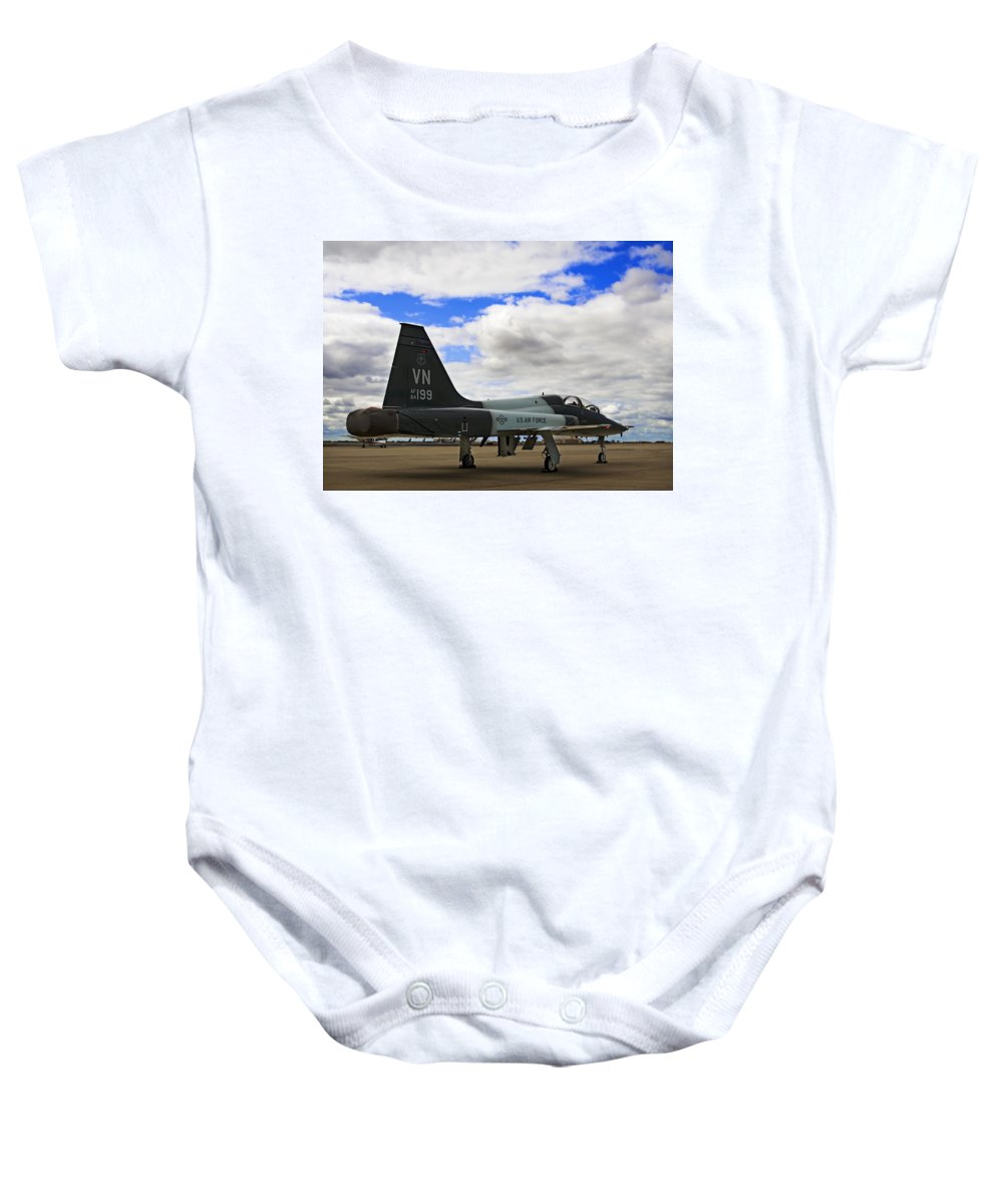 Aerodynamics Baby Onesie featuring the photograph Talon Time-out II by Ricky Barnard